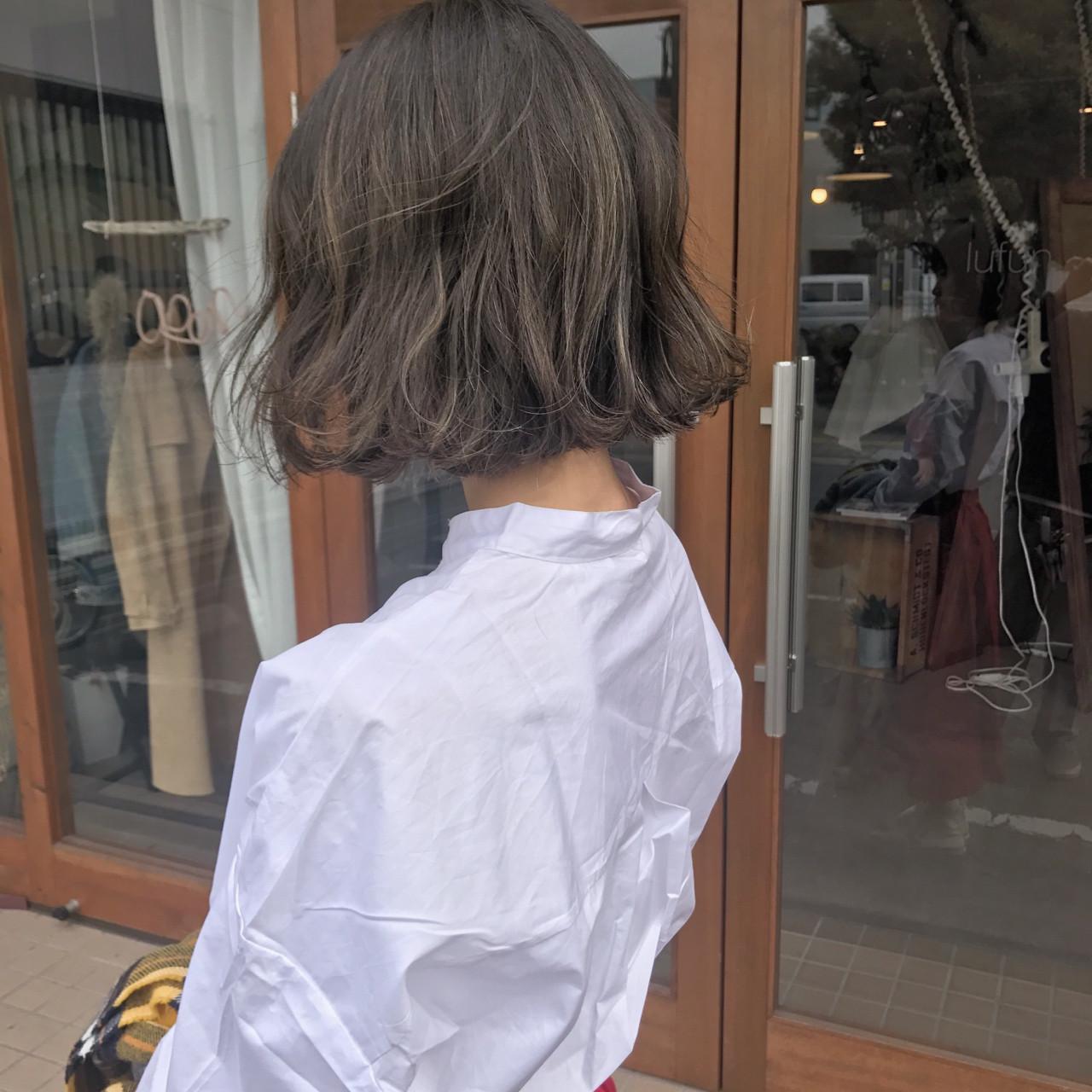 ボブ 外国人風 ヘアアレンジ 透明感 ヘアスタイルや髪型の写真・画像   原木翔太 / lufun hair design  ルファン