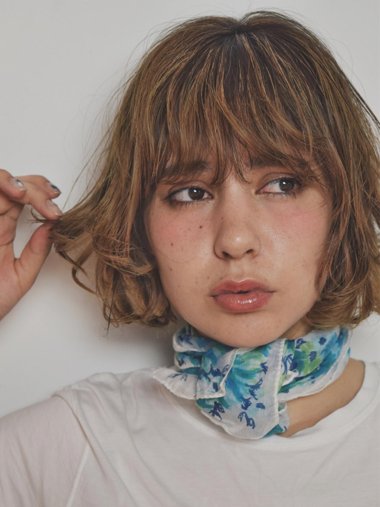 外ハネ パーマ ストリート ブラウン ヘアスタイルや髪型の写真・画像 | Natsuko Kodama 児玉奈都子 / dydi