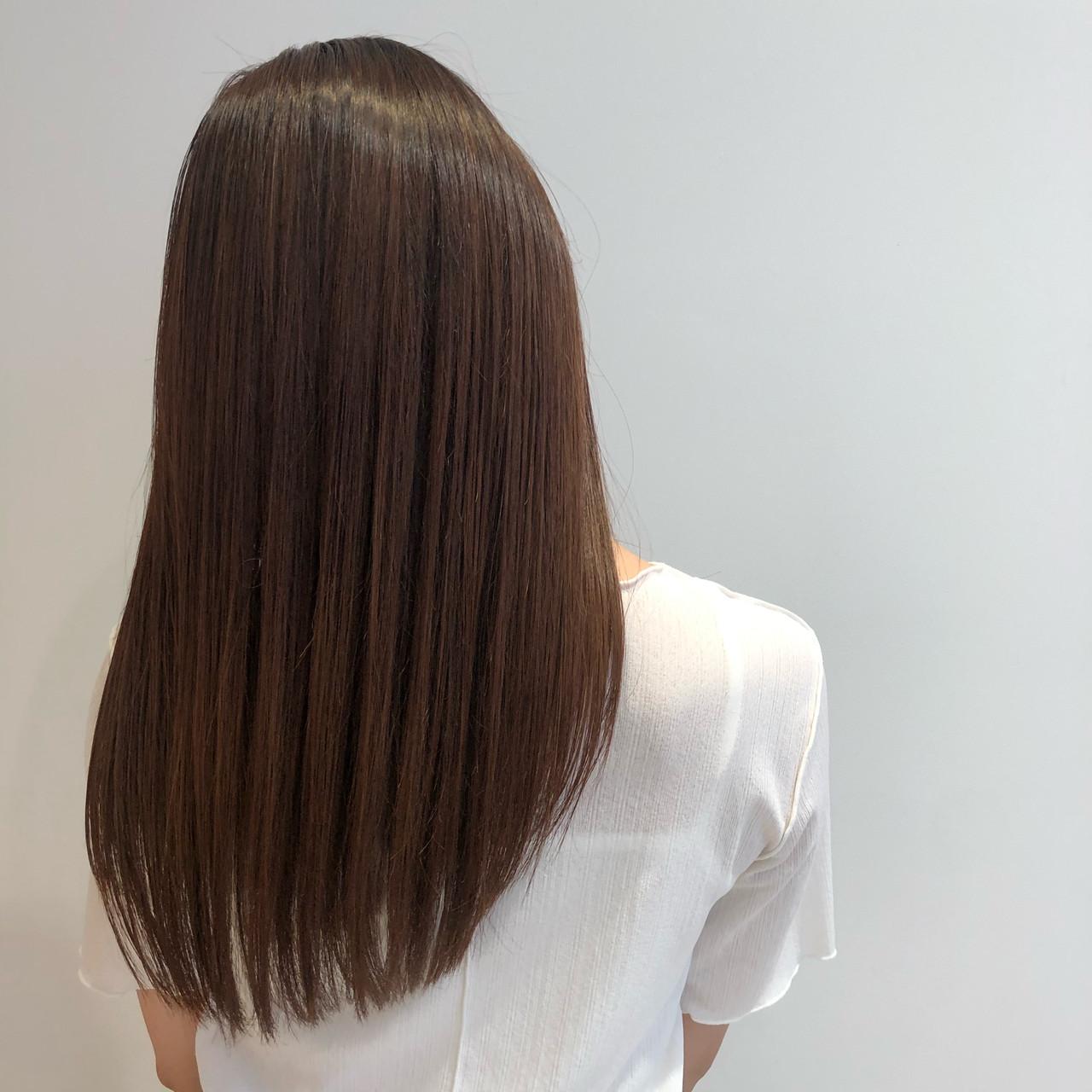 ストレート 髪質改善トリートメント ナチュラル 髪質改善 ヘアスタイルや髪型の写真・画像