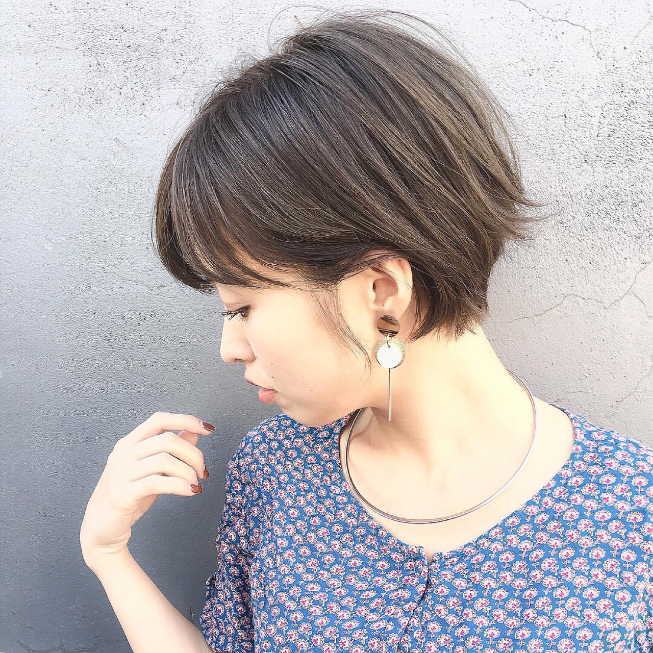 ヘアアレンジ こなれ感 ショート ナチュラルヘアスタイルや髪型の写真・画像