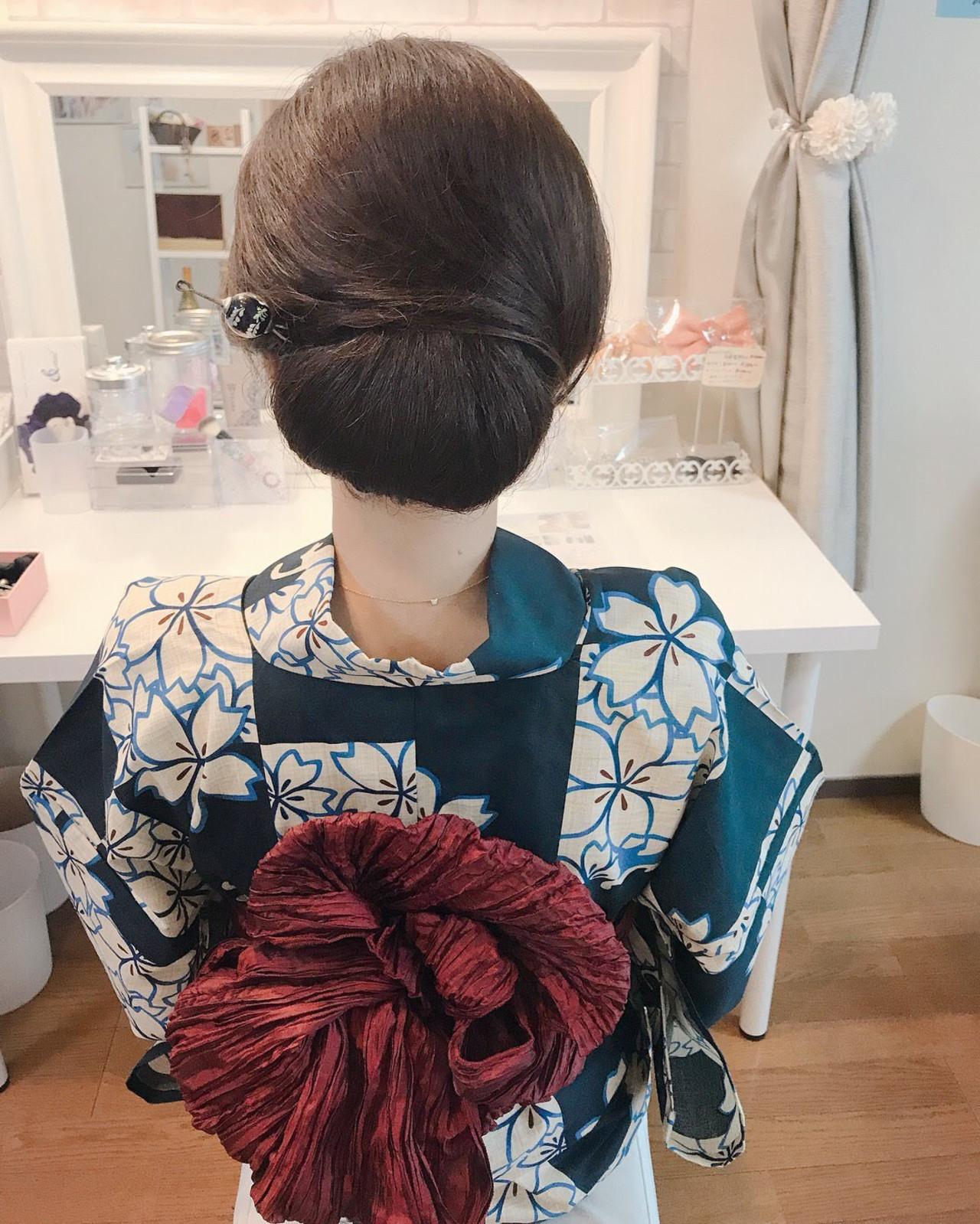 エレガント 結婚式 ロング シニヨン ヘアスタイルや髪型の写真・画像 | Moriyama Mami / 福岡天神ヘアセット・着付け専門店【Three-keys】