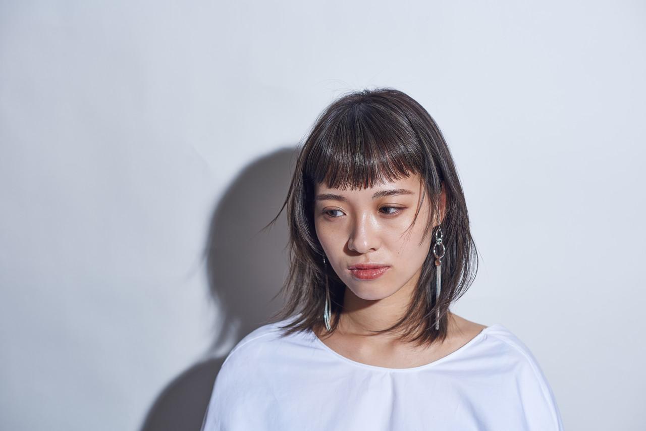 ミディアム ナチュラル デート 秋ヘアスタイルや髪型の写真・画像