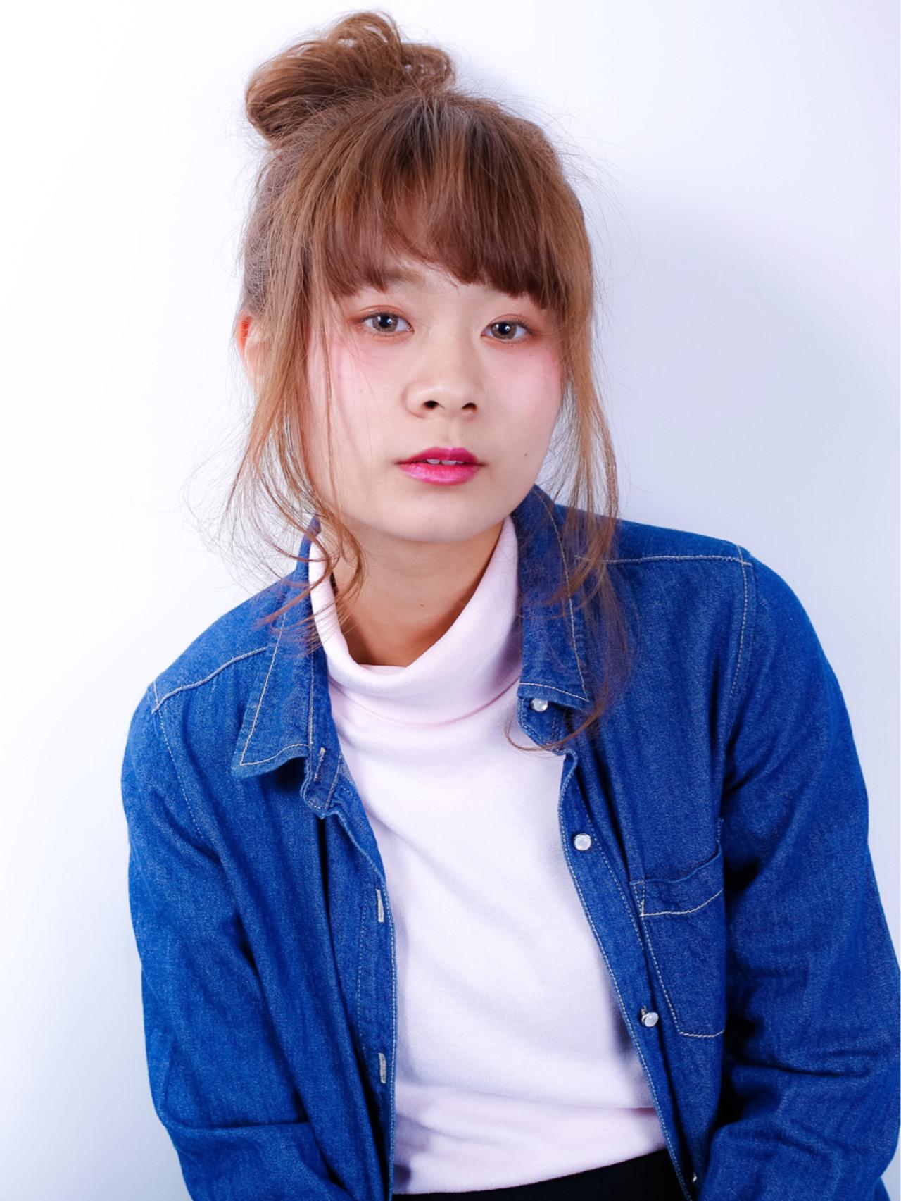 ミディアム 簡単ヘアアレンジ ショート アッシュ ヘアスタイルや髪型の写真・画像 | 小笠原 淳 / hair make No.8(ヘアメイクエイト)