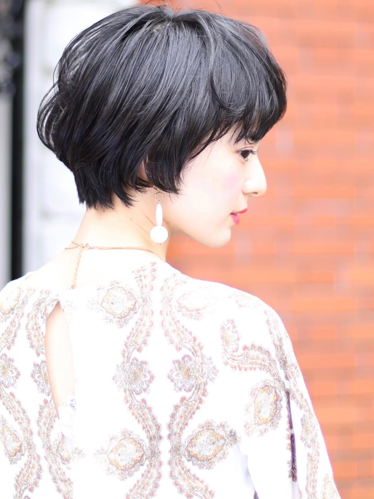 小顔ショート デジタルパーマ ショートヘア ショート ヘアスタイルや髪型の写真・画像 | いしばしなおや / &STORIES 表参道