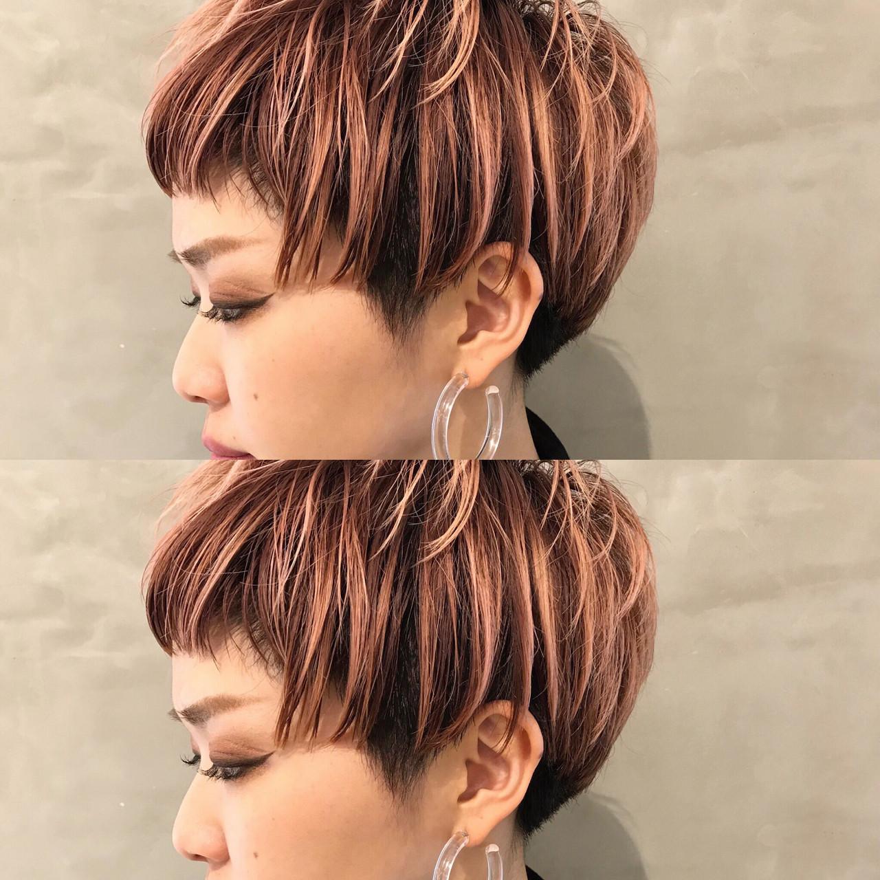 グラデーションカラー ピンク モード ベビーバング ヘアスタイルや髪型の写真・画像 | 永島 稔久 / Salon ryu