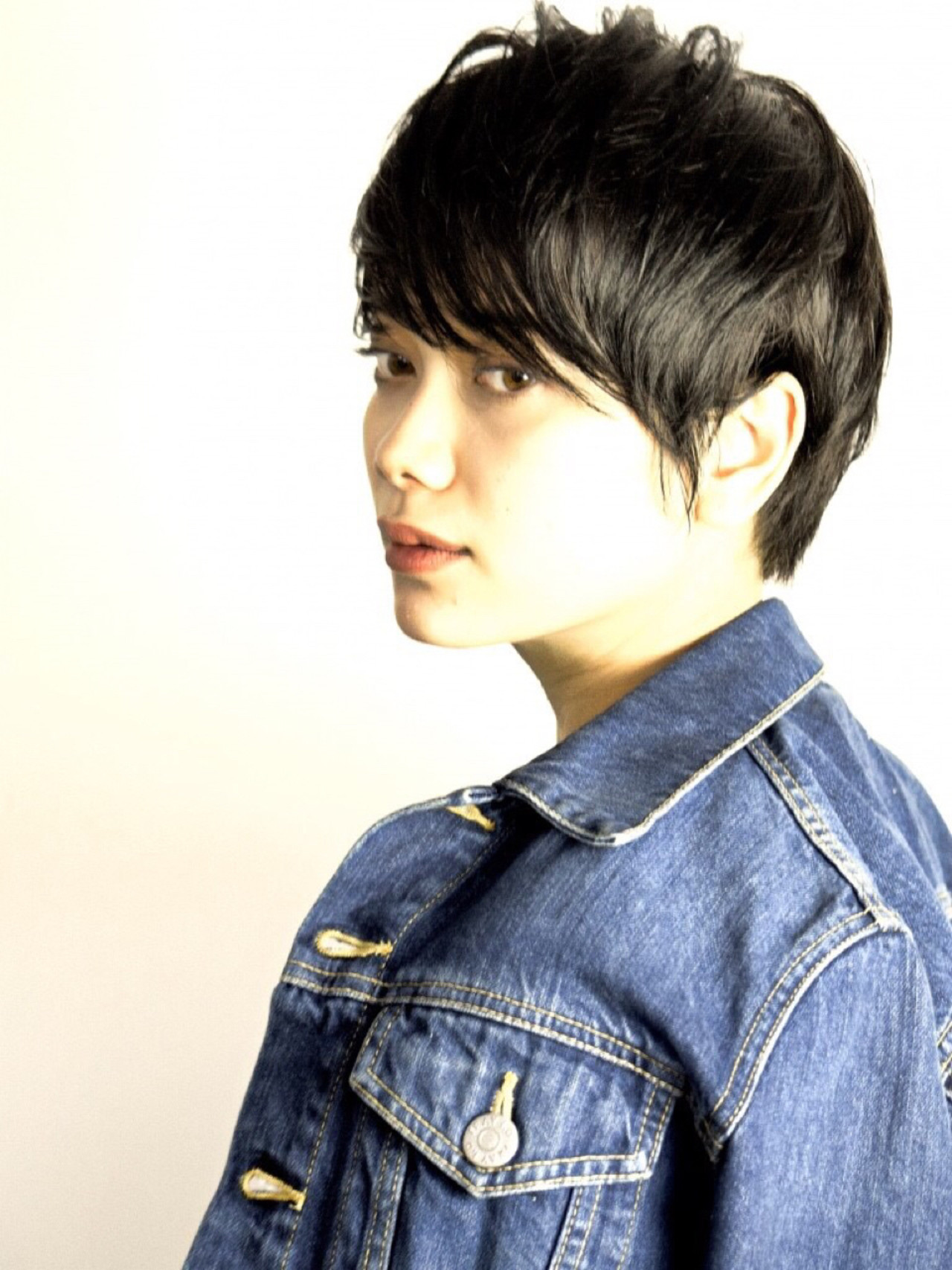 モード 暗髪 ショート 黒髪ヘアスタイルや髪型の写真・画像