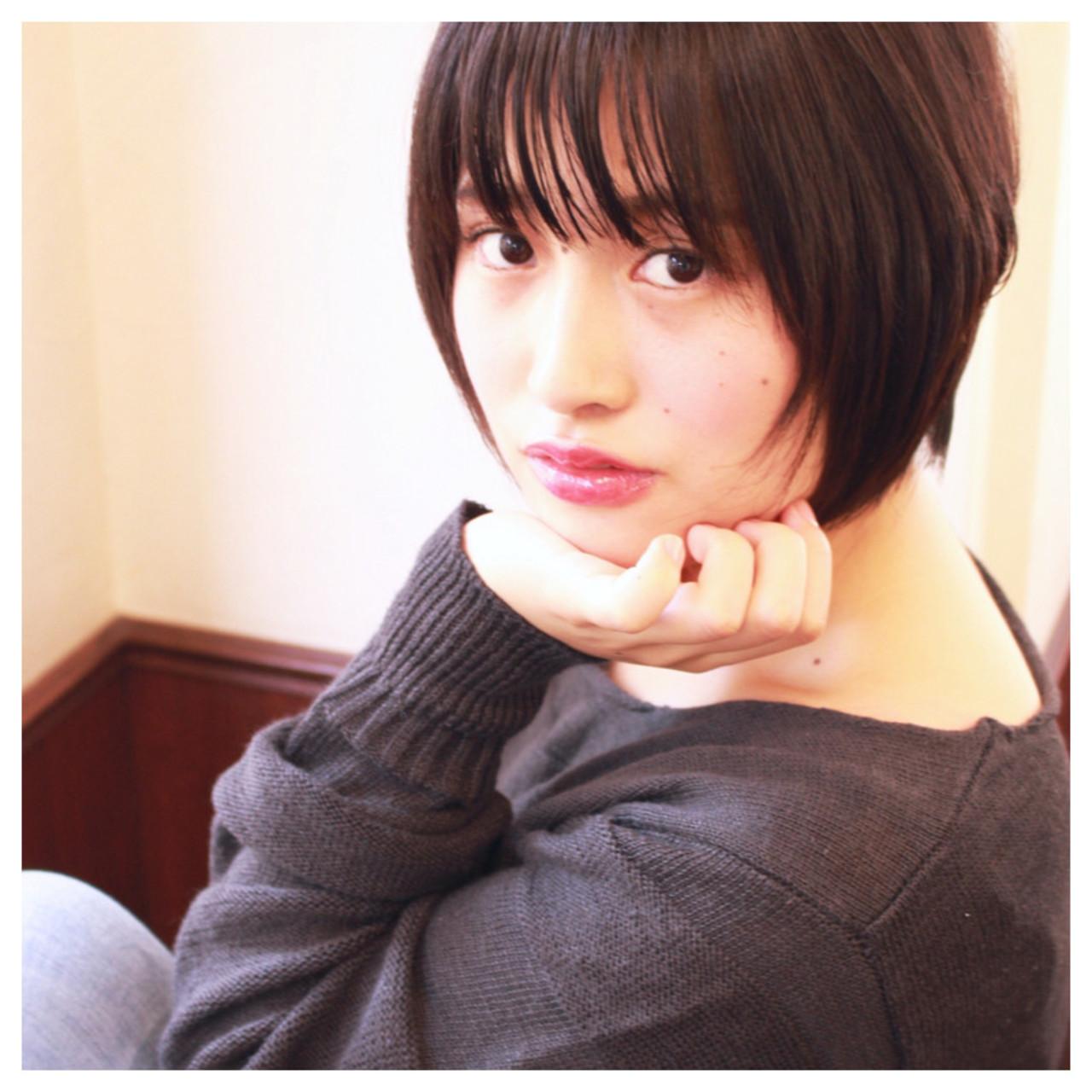 大人かわいい 前髪あり 暗髪 色気 ヘアスタイルや髪型の写真・画像 | 渡辺奈緒美 / styleindex茗荷谷