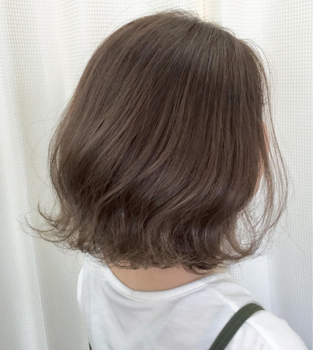 モード 外ハネ ボブ アッシュ ヘアスタイルや髪型の写真・画像 | サワ / Seamu