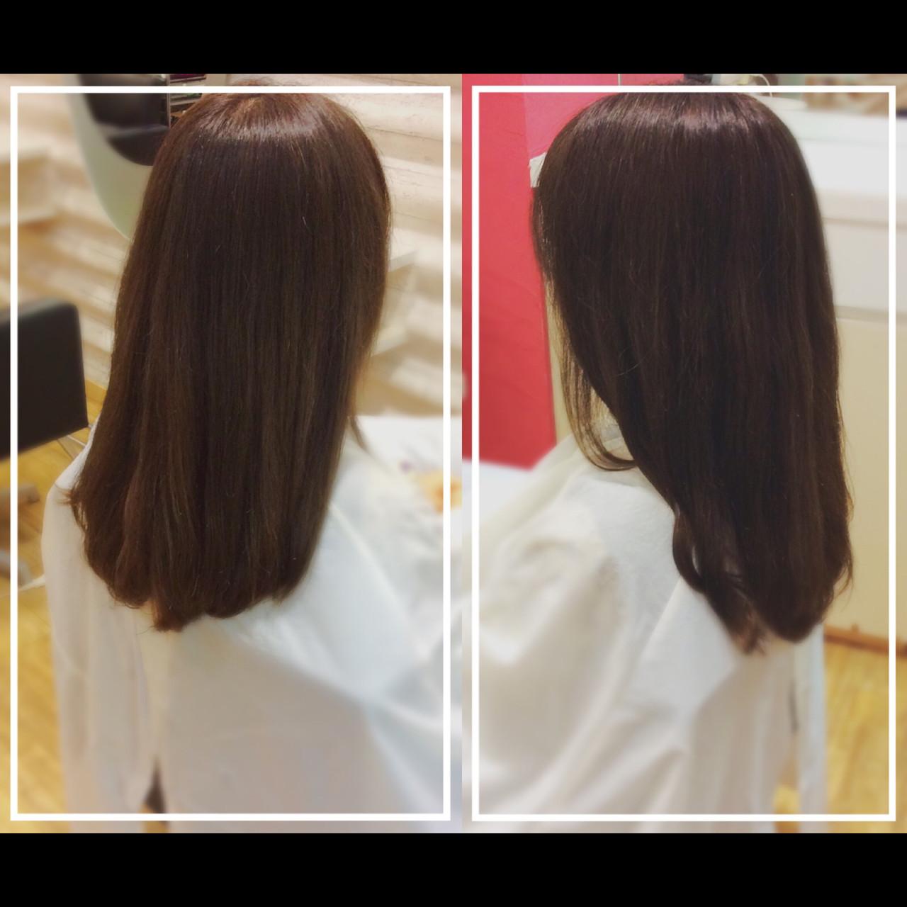 髪質改善 ロング ナチュラル 髪質改善カラーヘアスタイルや髪型の写真・画像