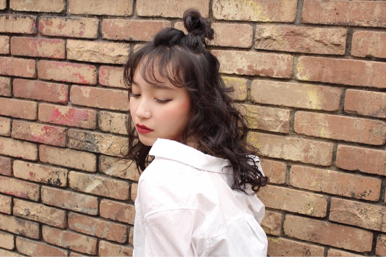 かわいい ガーリー カール ヘアアレンジ ヘアスタイルや髪型の写真・画像 | かりん /
