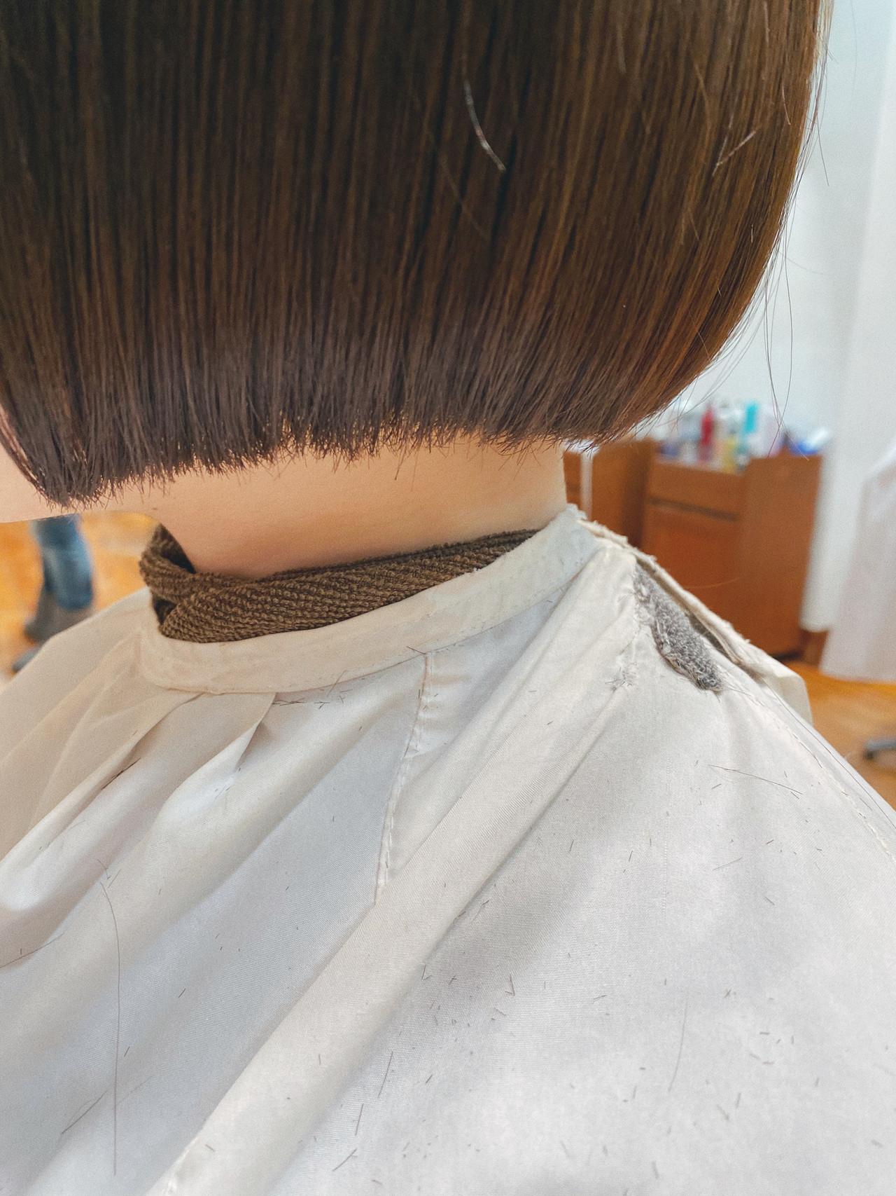モテボブ 切りっぱなしボブ ボブ ミニボブ ヘアスタイルや髪型の写真・画像 | 我妻大地 GREEK / GREEK Hair Design