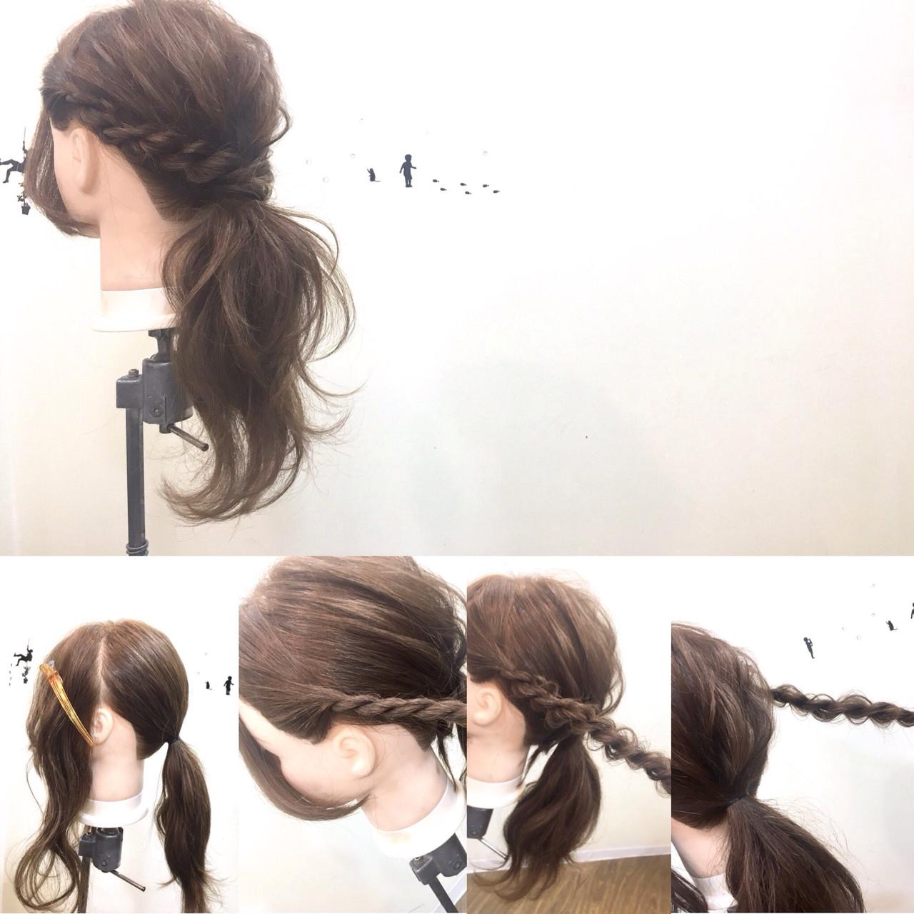 大人女子 ロング フェミニン ローポニーテール ヘアスタイルや髪型の写真・画像 | 中野 裕介/jap international / JAP international Ssalon