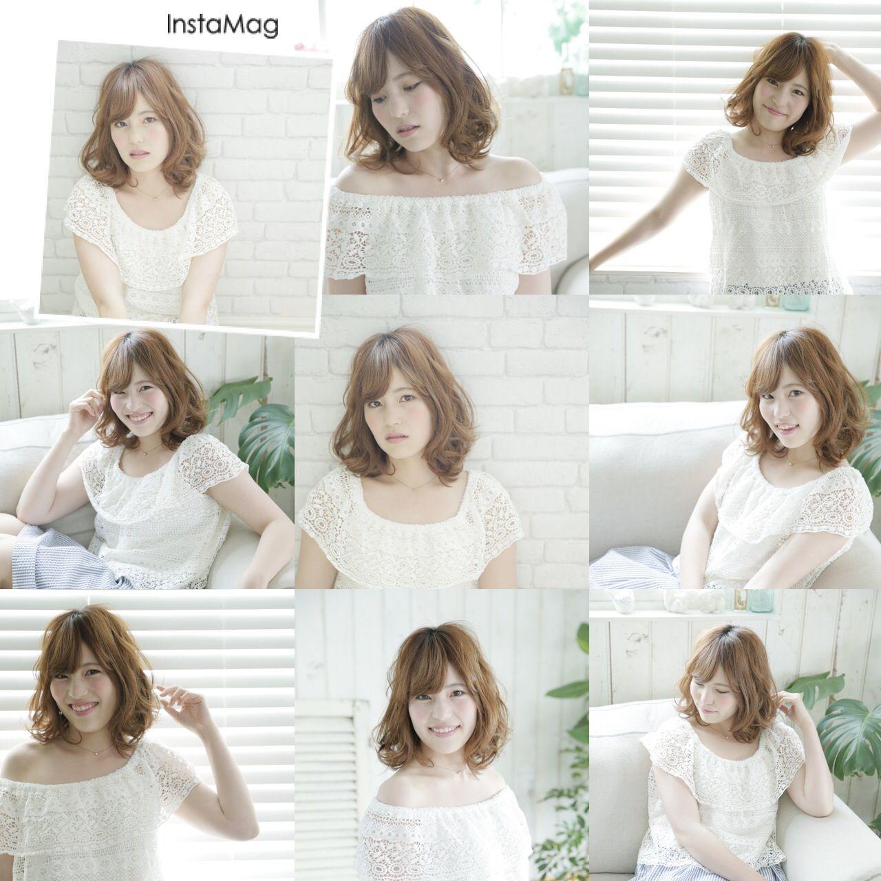 学校 フェミニン モテ髪 愛され ヘアスタイルや髪型の写真・画像 | 田川 真衣 /