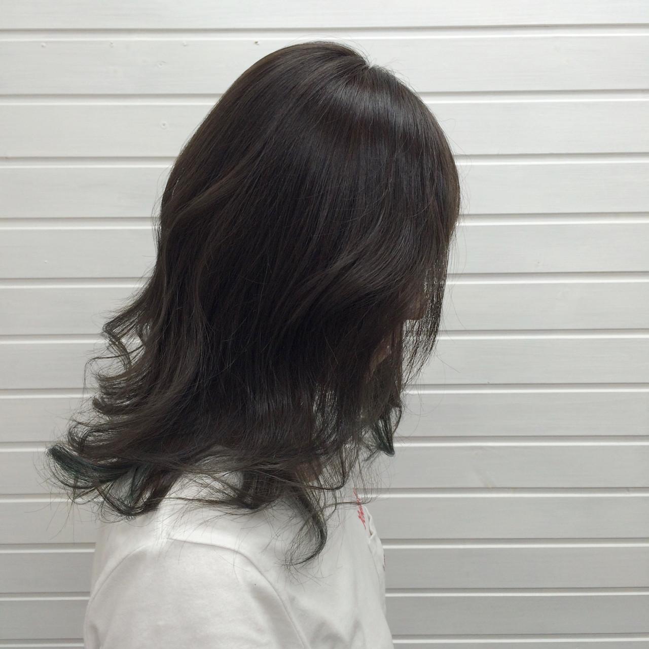 暗髪 グレージュ ヘアアレンジ 色気 ヘアスタイルや髪型の写真・画像 | universe / hairspaceuniverse