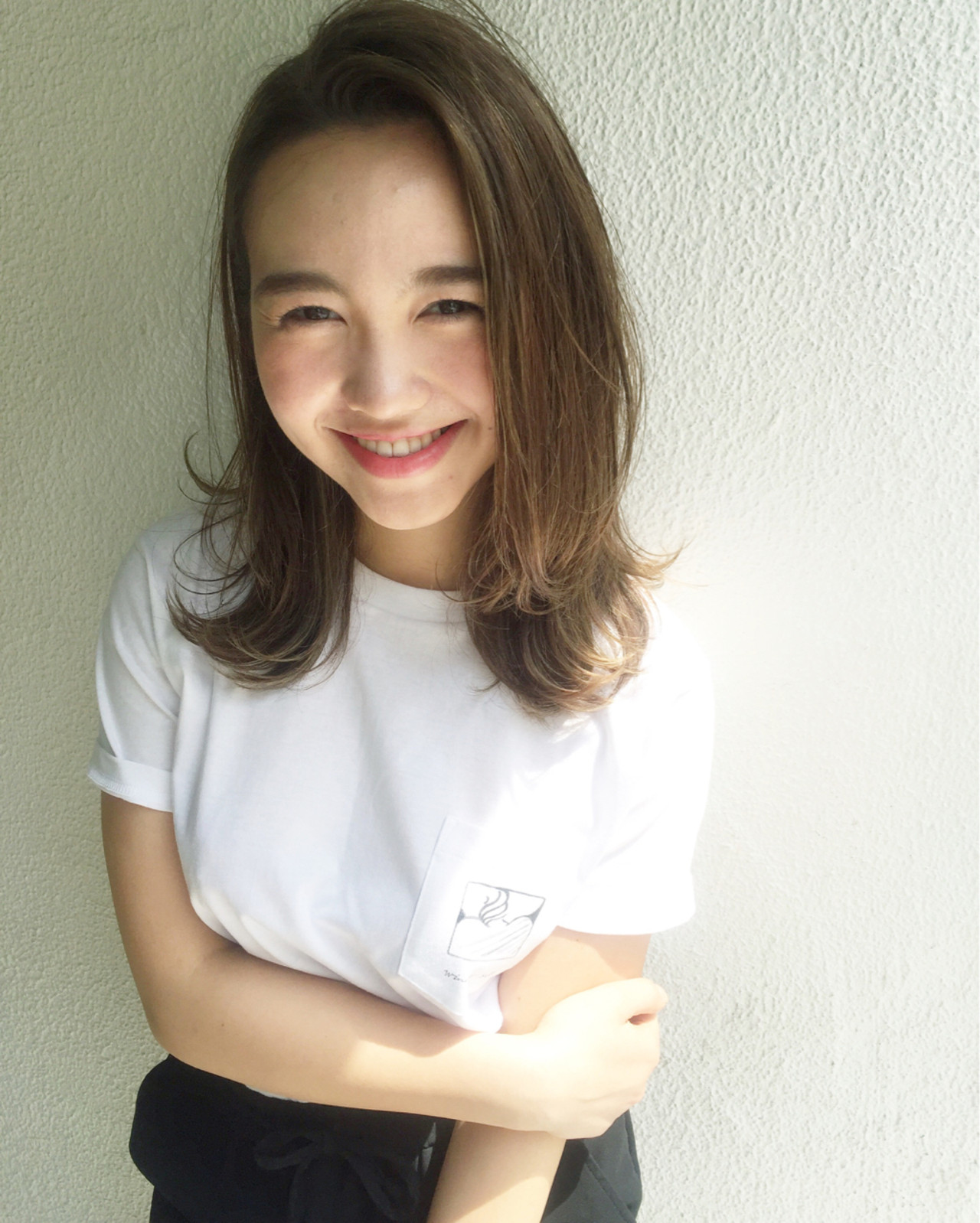前髪あり ハイライト 外国人風 かき上げ前髪 ヘアスタイルや髪型の写真・画像 | OYAMA KENICHI / BALLOON HAIR