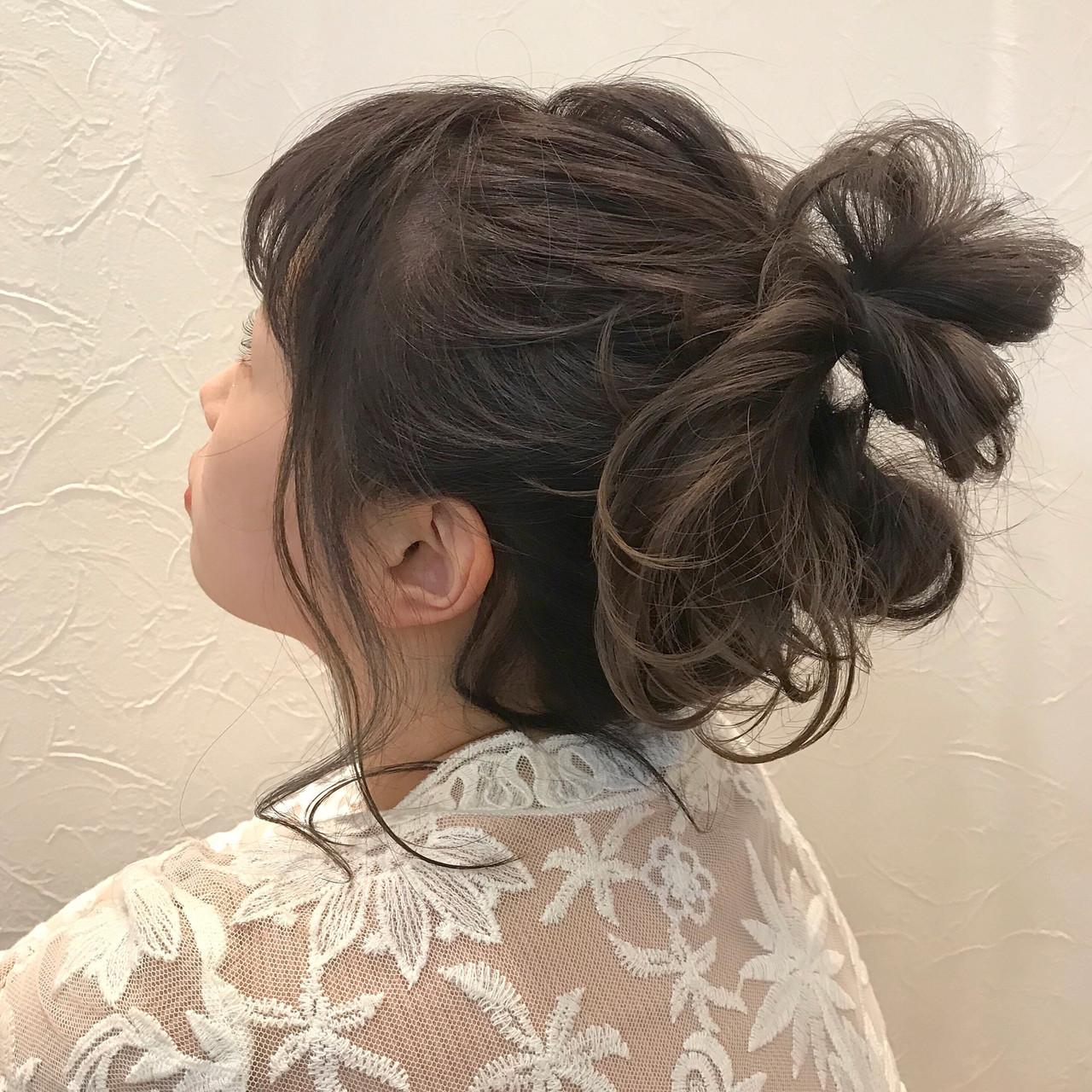 ヘアアレンジ ラフ おだんご 簡単ヘアアレンジ ヘアスタイルや髪型の写真・画像 | Nakamura Mari / rocca