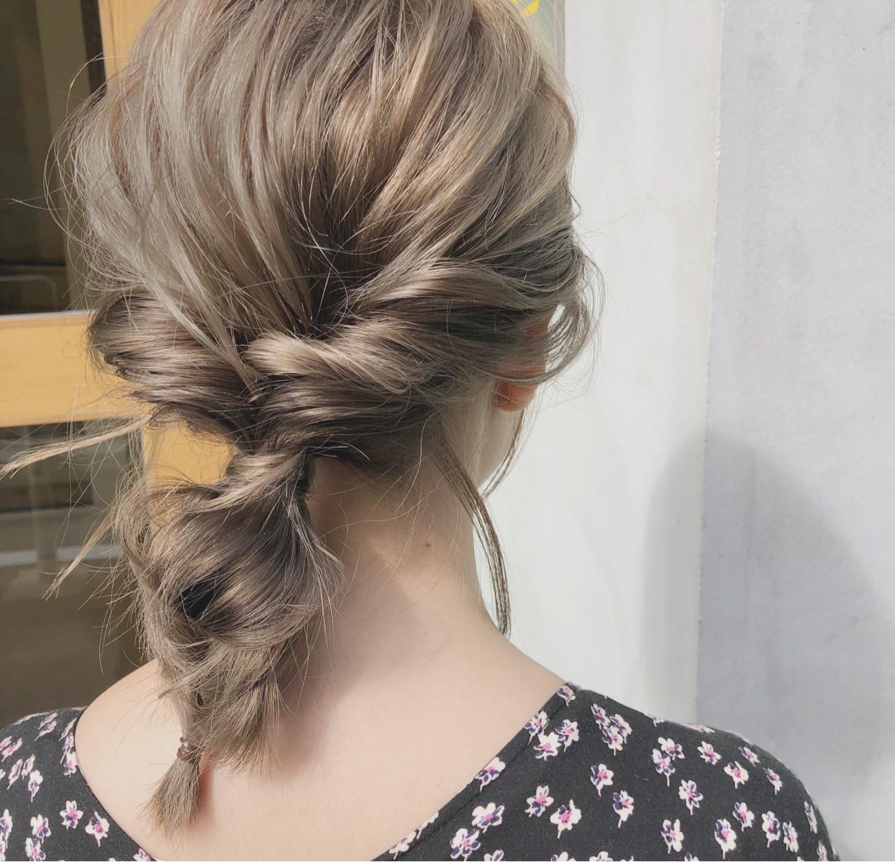 スポーツ ガーリー ミディアム ヘアアレンジ ヘアスタイルや髪型の写真・画像 | 中島 潮里 / whyte / whyte