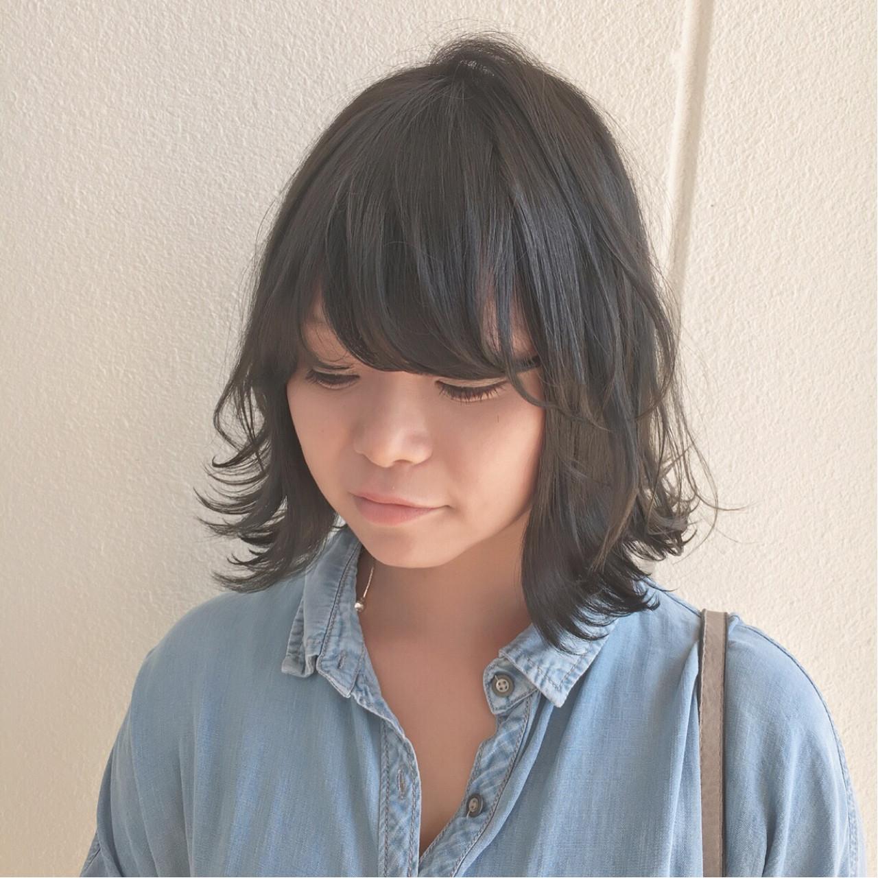 グレー 外ハネ ストリート ボブ ヘアスタイルや髪型の写真・画像 | Yuuta Asato / Moana by HEADLIGHT 沖縄東崎店