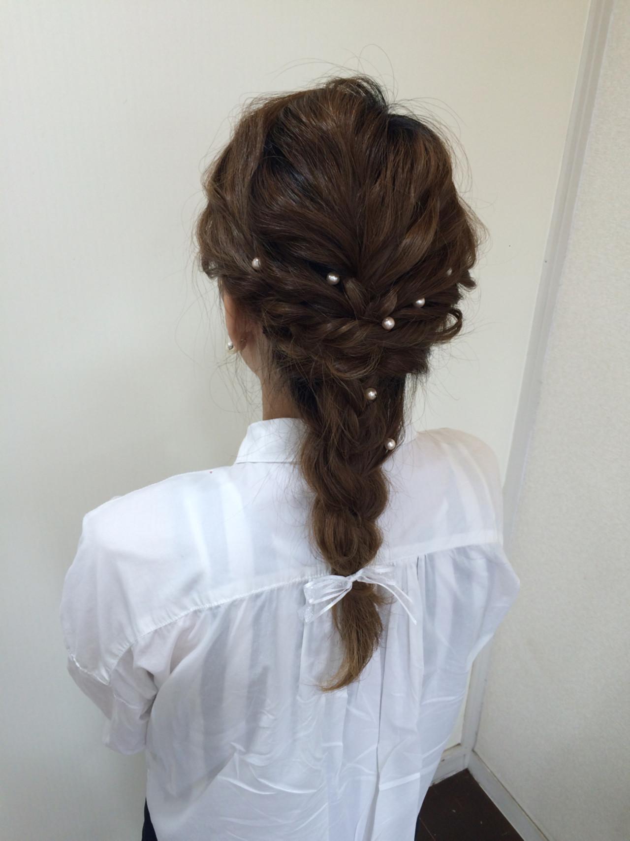 ショート ゆるふわ セミロング 結婚式ヘアスタイルや髪型の写真・画像