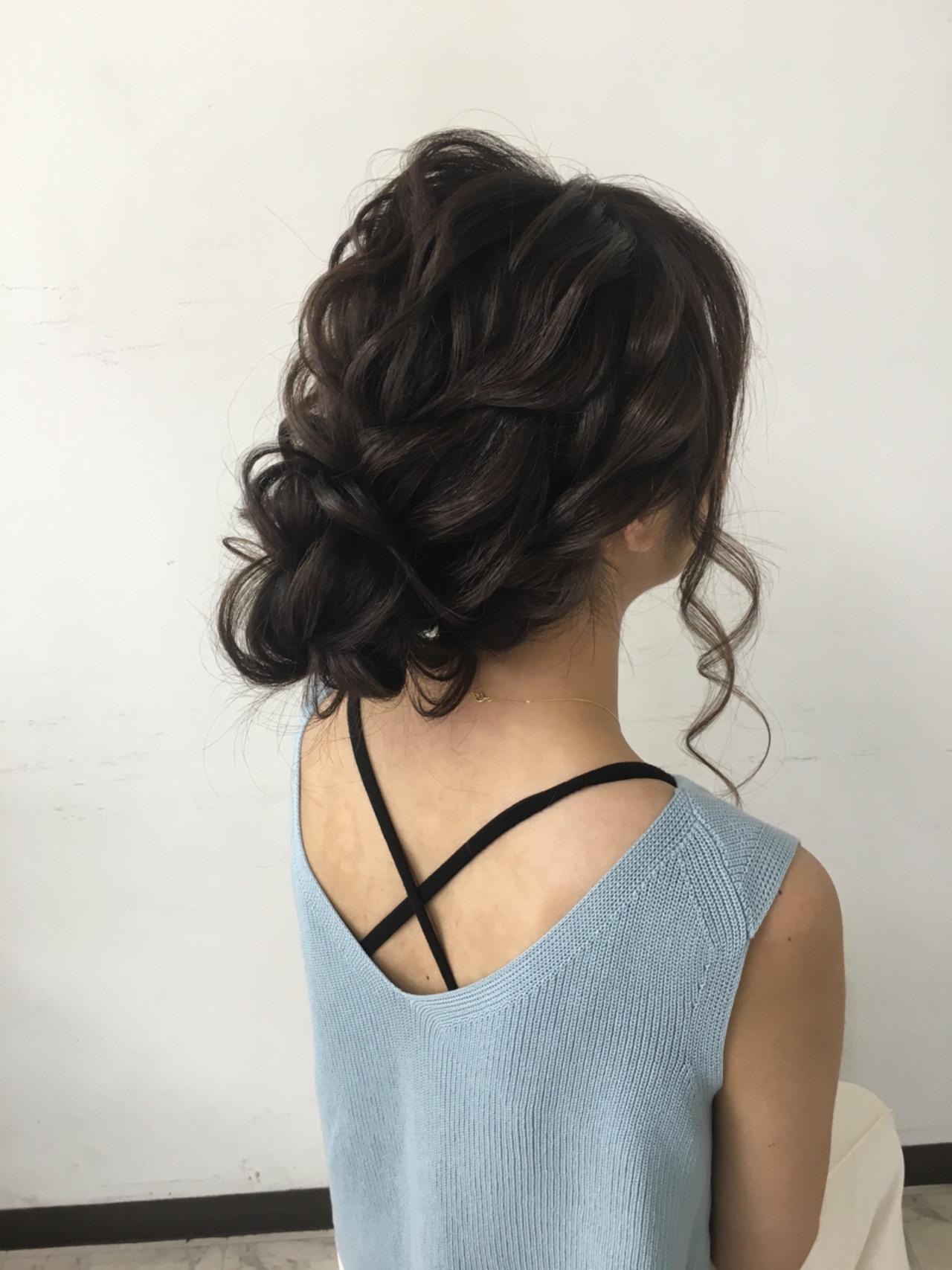 波ウェーブ ゆるふわ ヘアアレンジ 大人かわいい ヘアスタイルや髪型の写真・画像   YUKINO / セットサロン スキーター