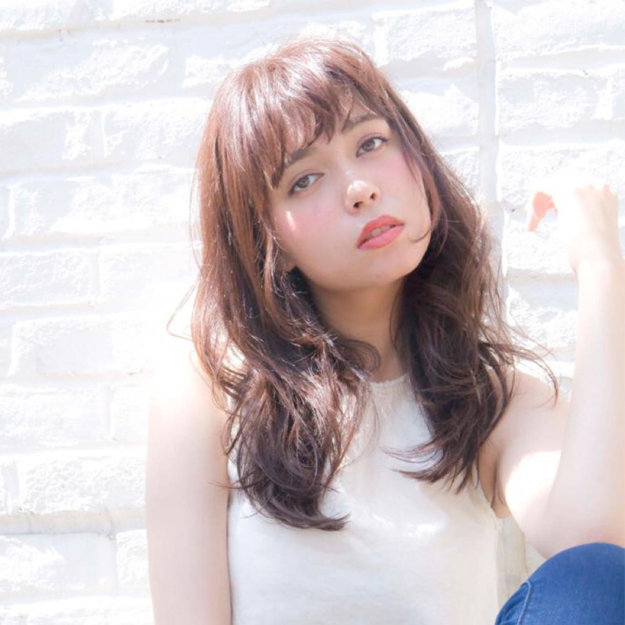 外国人風 ゆるふわ 前髪あり ロング ヘアスタイルや髪型の写真・画像 | 森平 祐介 /ROJITHA / ROJITHA