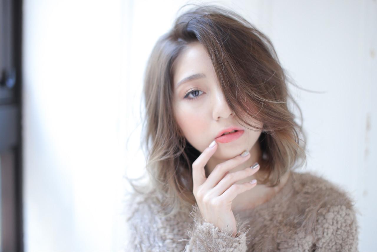 ナチュラル ミディアム ニュアンス 大人女子 ヘアスタイルや髪型の写真・画像   白井雄喜 / FERIA心斎橋