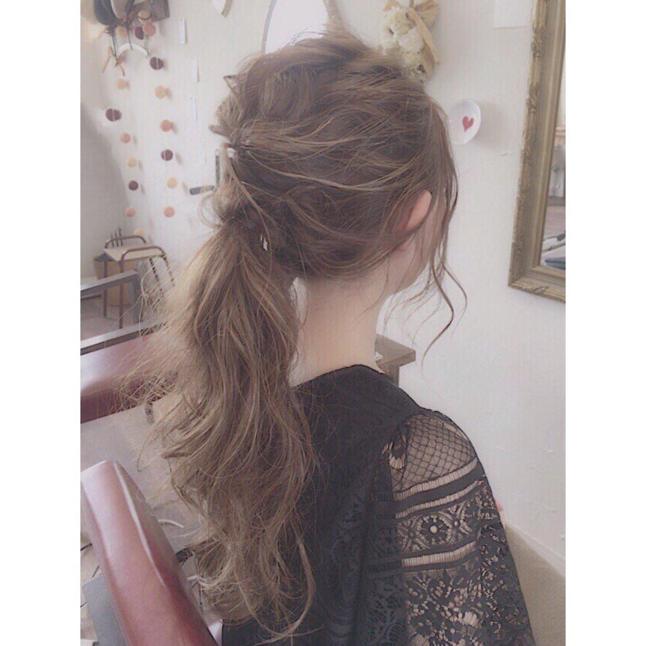 ゆるふわ 結婚式 ナチュラル ロング ヘアスタイルや髪型の写真・画像   川内道子 instagram→michiko_k / Noelle インスタ→michiko_k