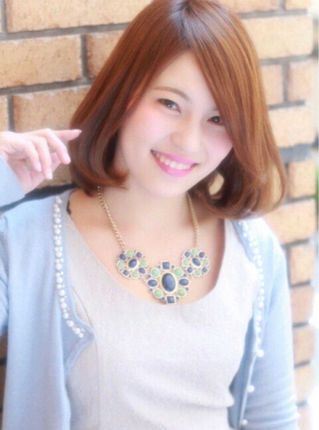 学校 モテ髪 コンサバ ナチュラル ヘアスタイルや髪型の写真・画像 | 田川 真衣 /