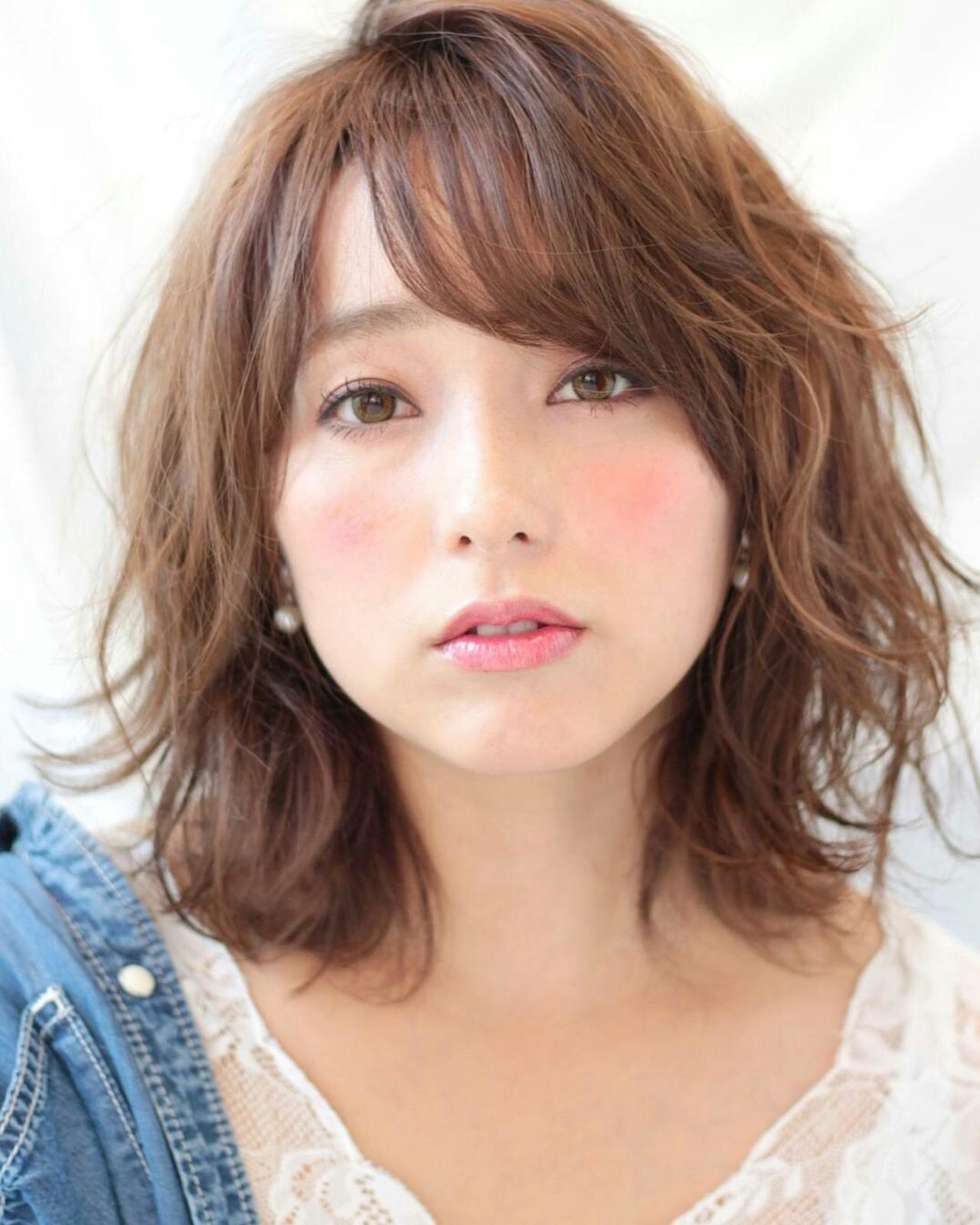大人かわいい 愛され モテ髪 パーマ ヘアスタイルや髪型の写真・画像 | asuka /