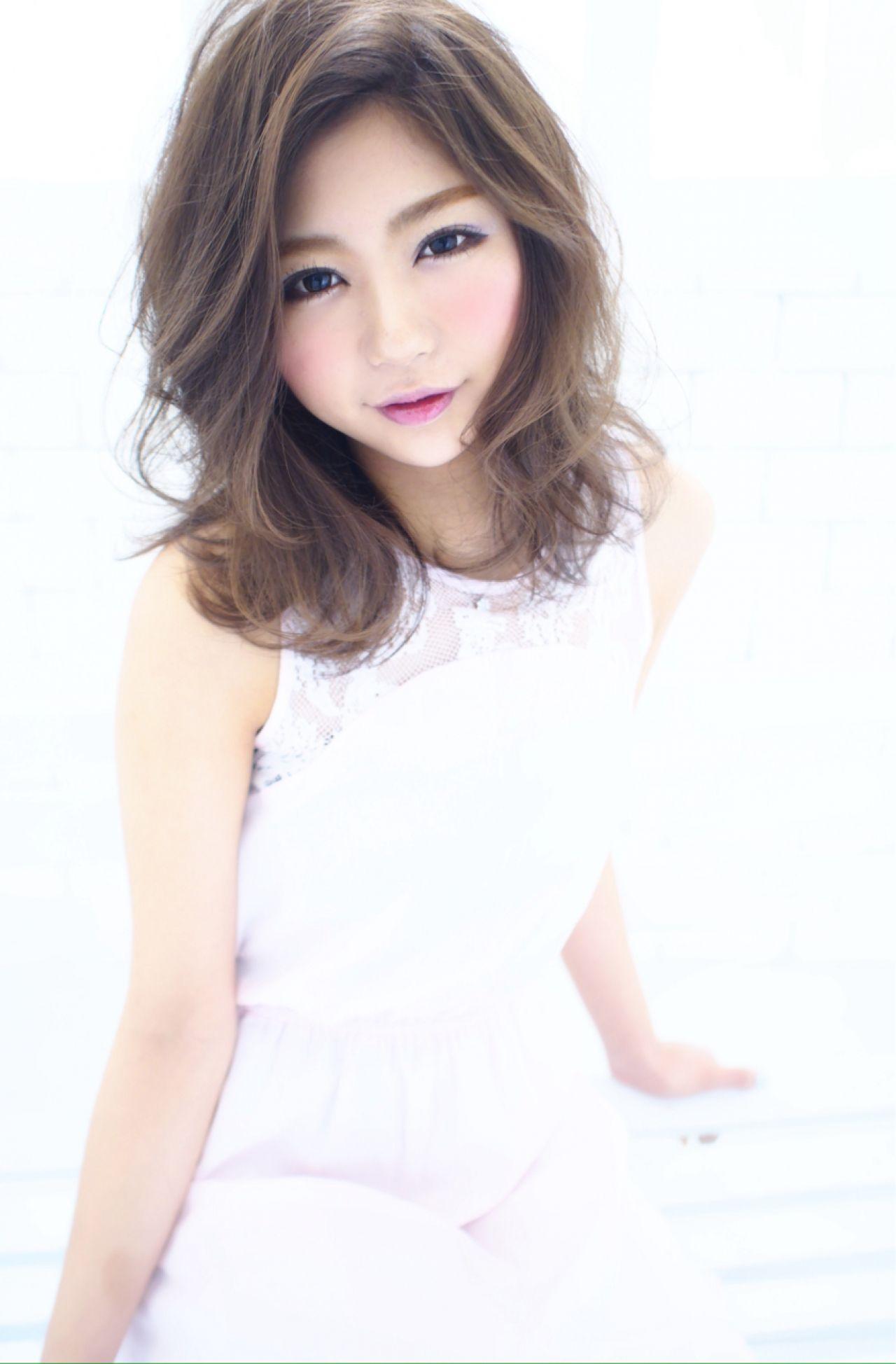 モテ髪 大人かわいい ミディアム 愛され ヘアスタイルや髪型の写真・画像 | 松井愛士 / releas SEMBA