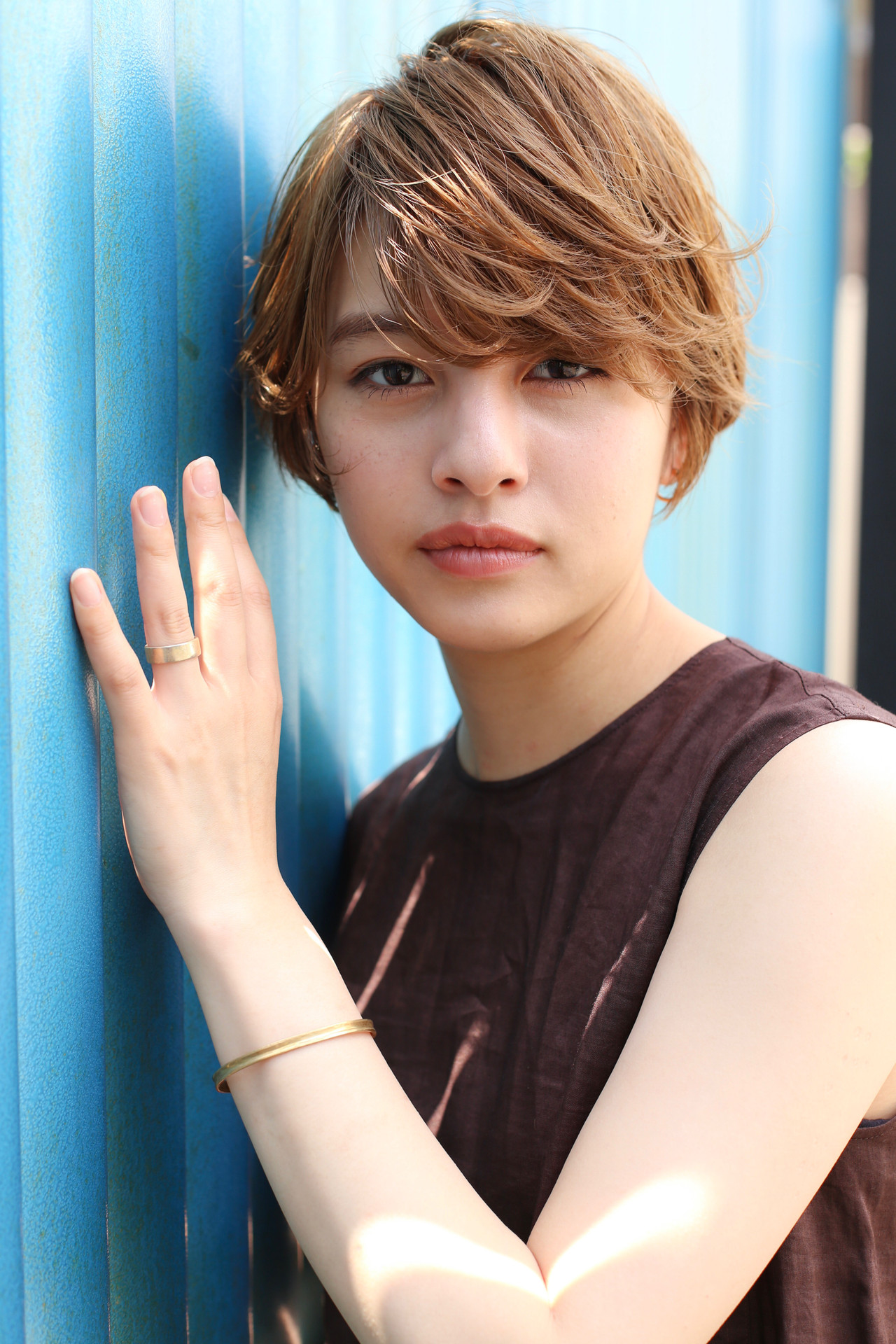 ショート デート 簡単ヘアアレンジ 小顔ショート ヘアスタイルや髪型の写真・画像 | ade omotesando YUKA / ade omotesando