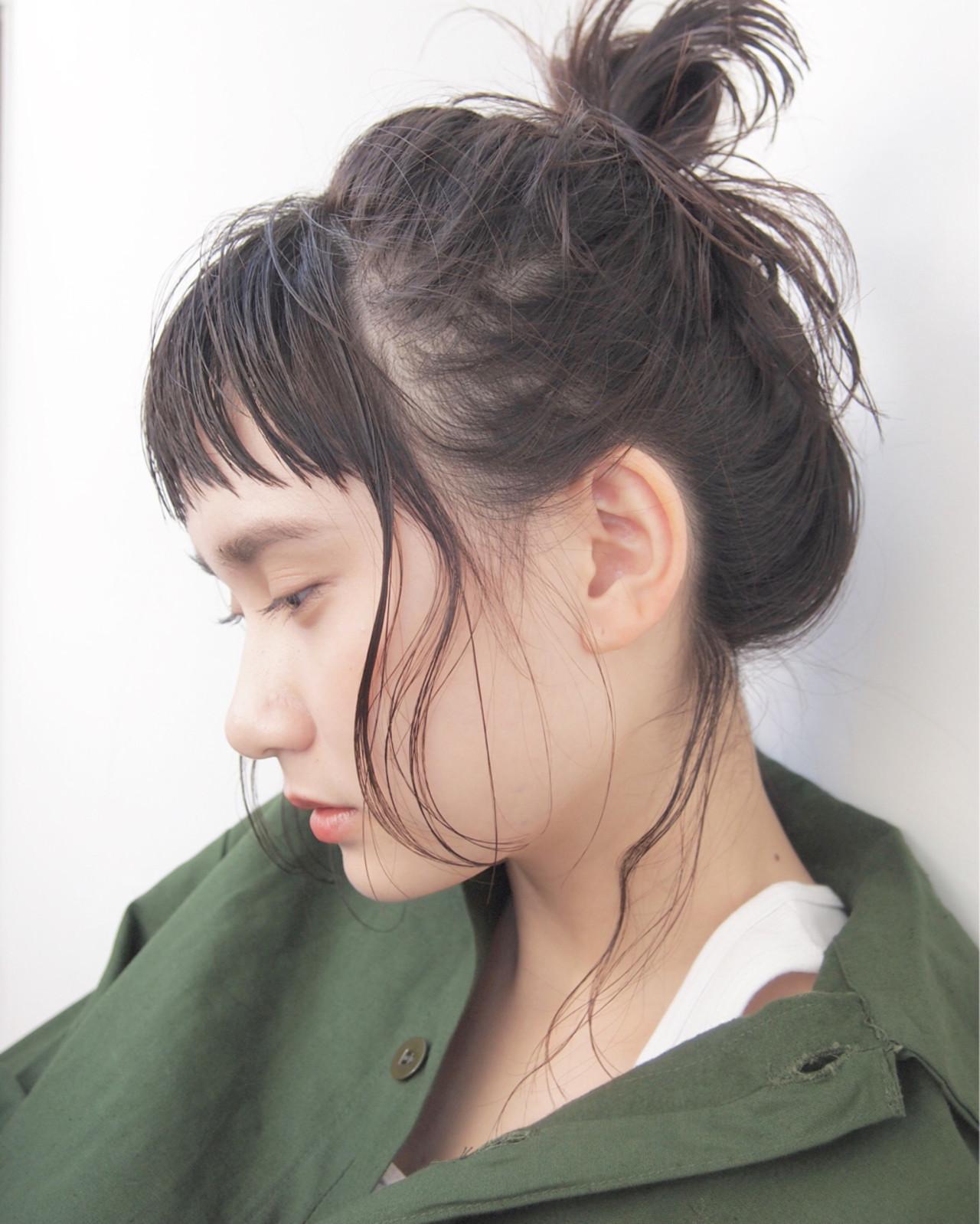前髪あり ニュアンス 黒髪 ボブ ヘアスタイルや髪型の写真・画像 | UEKI/nanuk / nanuk二子玉川