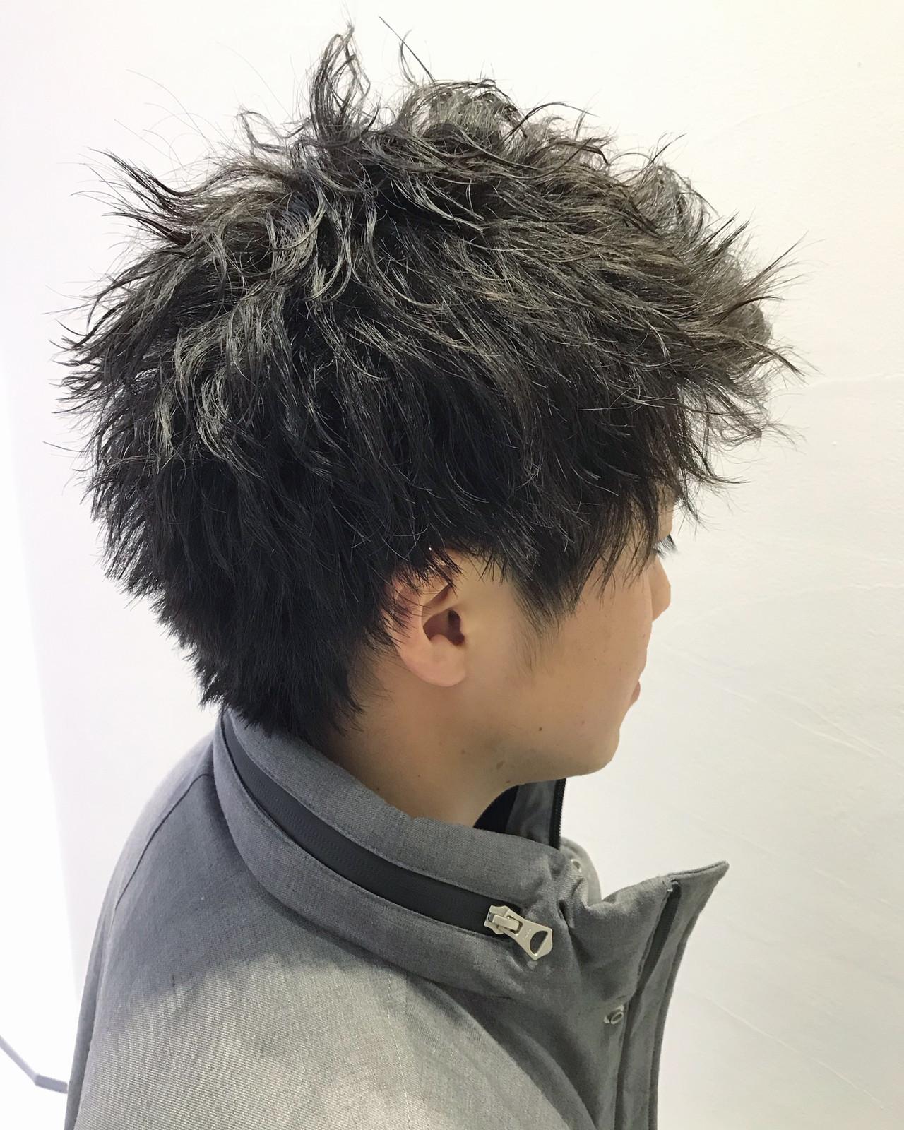 メンズパーマ メンズカジュアル メンズカット ナチュラル ヘアスタイルや髪型の写真・画像 | Mino Takahiro / Agu hair cardinal 片町店