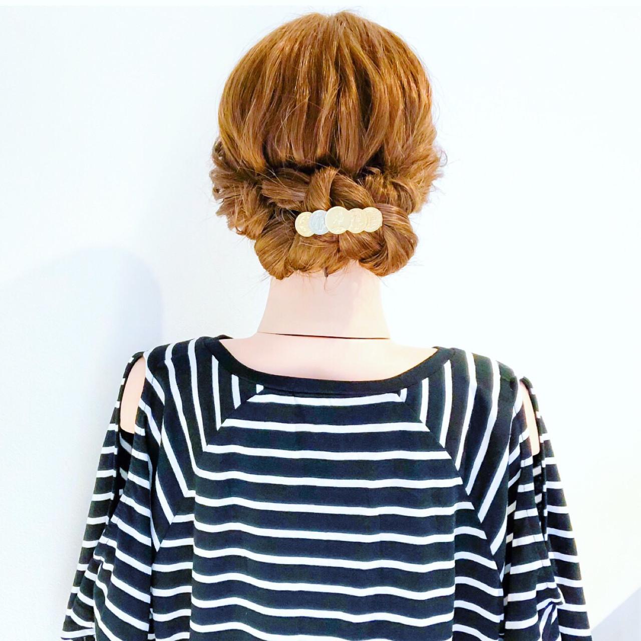 ヘアアレンジ ロング ショート くるりんぱ ヘアスタイルや髪型の写真・画像 | 美容師HIRO/Amoute代表 / Amoute/アムティ