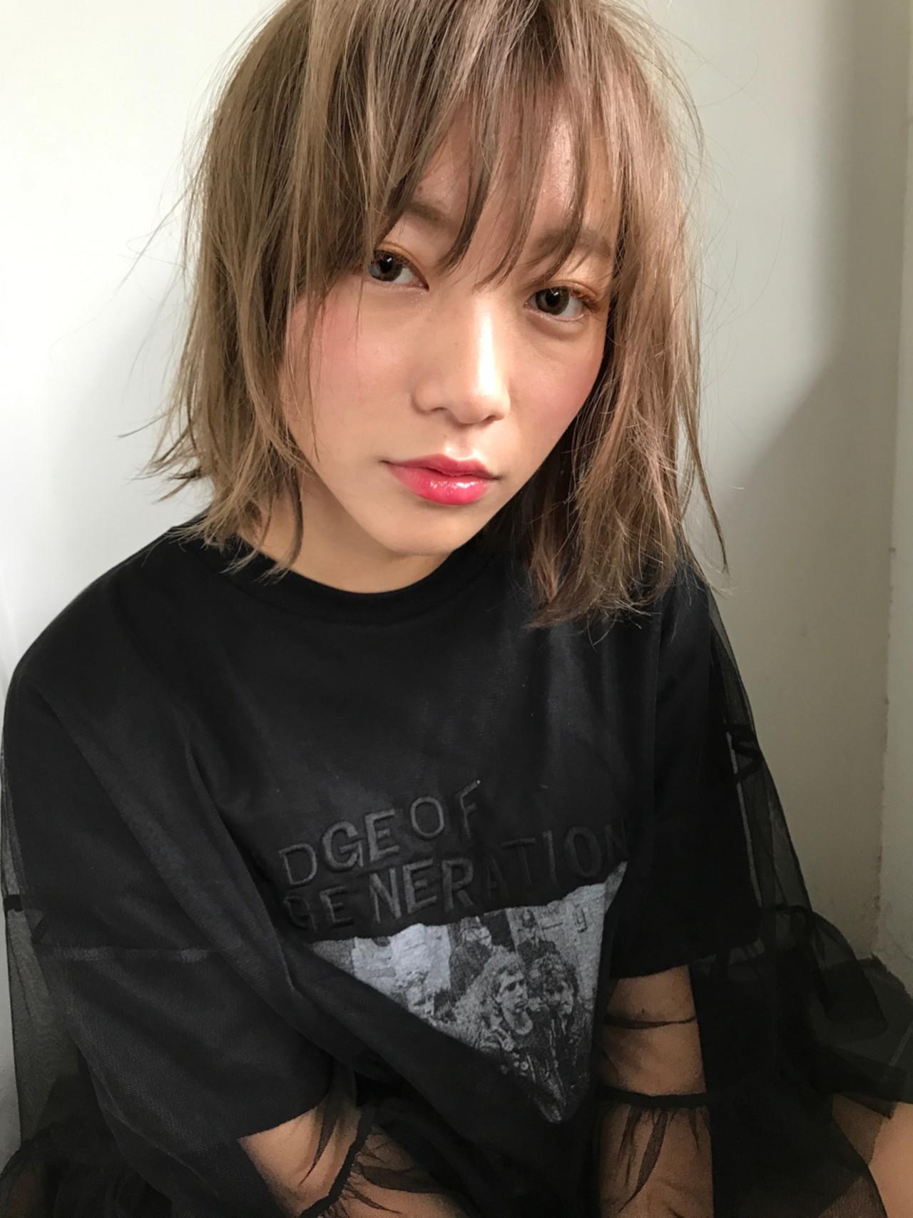 ボブ 外国人風 ストリート モードヘアスタイルや髪型の写真・画像
