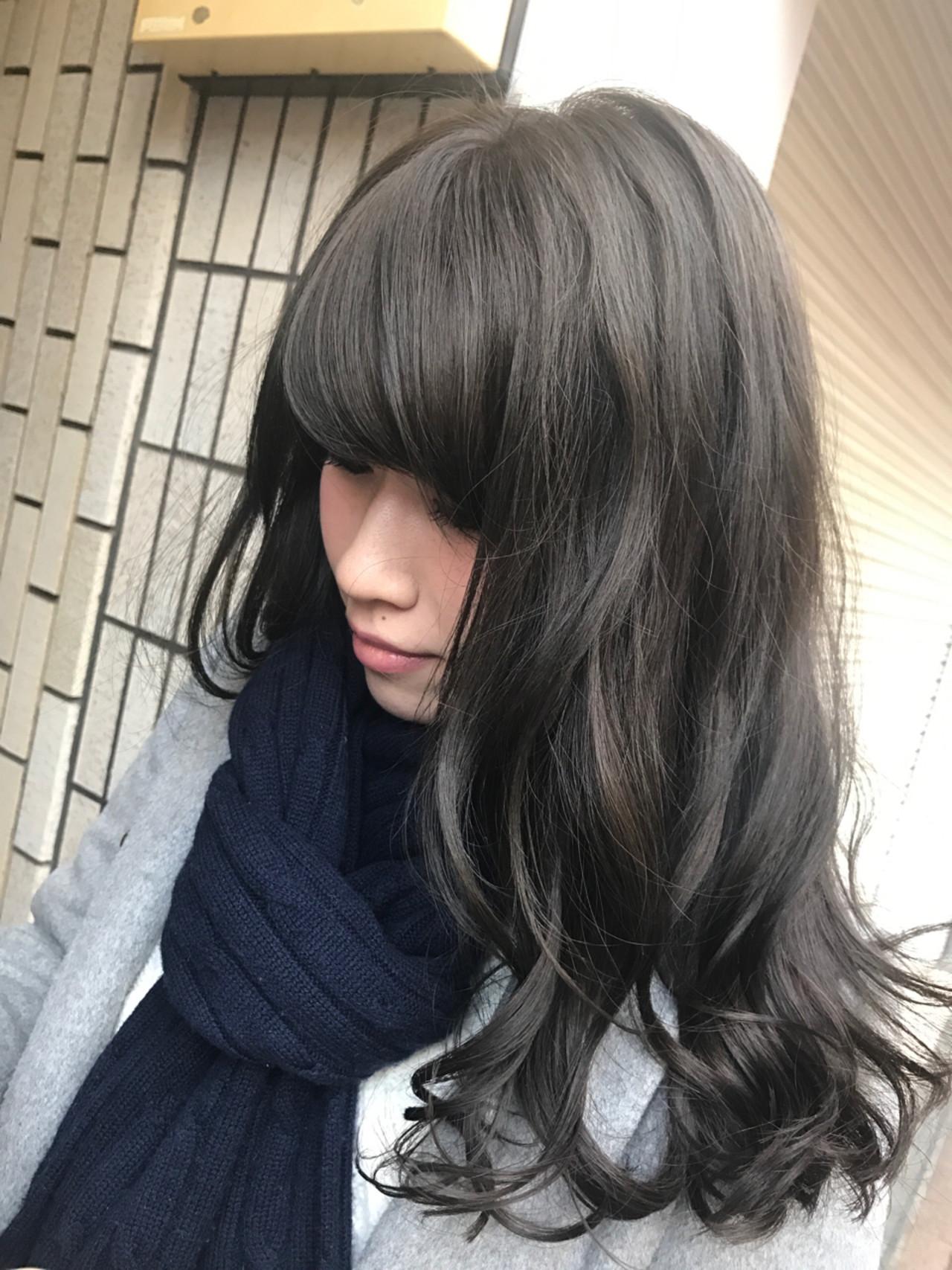 ストリート 大人かわいい セミロング 暗髪 ヘアスタイルや髪型の写真・画像 | 桝田 由佳 / フリーランスでしてます!お電話のご予約不可です