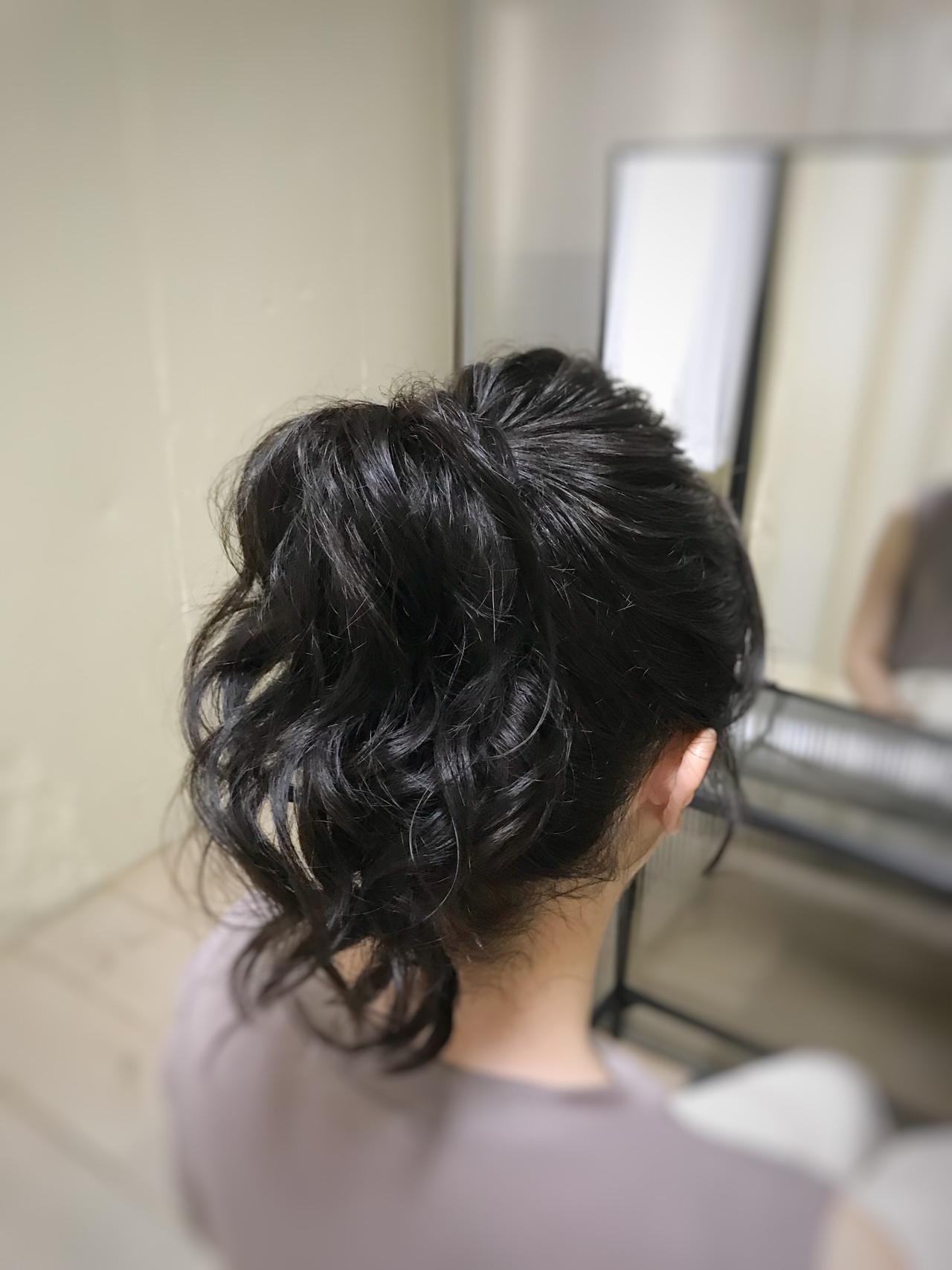 ミディアム ポニーテール ヘアアレンジ アウトドア ヘアスタイルや髪型の写真・画像 | fots.愛美 / fots.南堀江