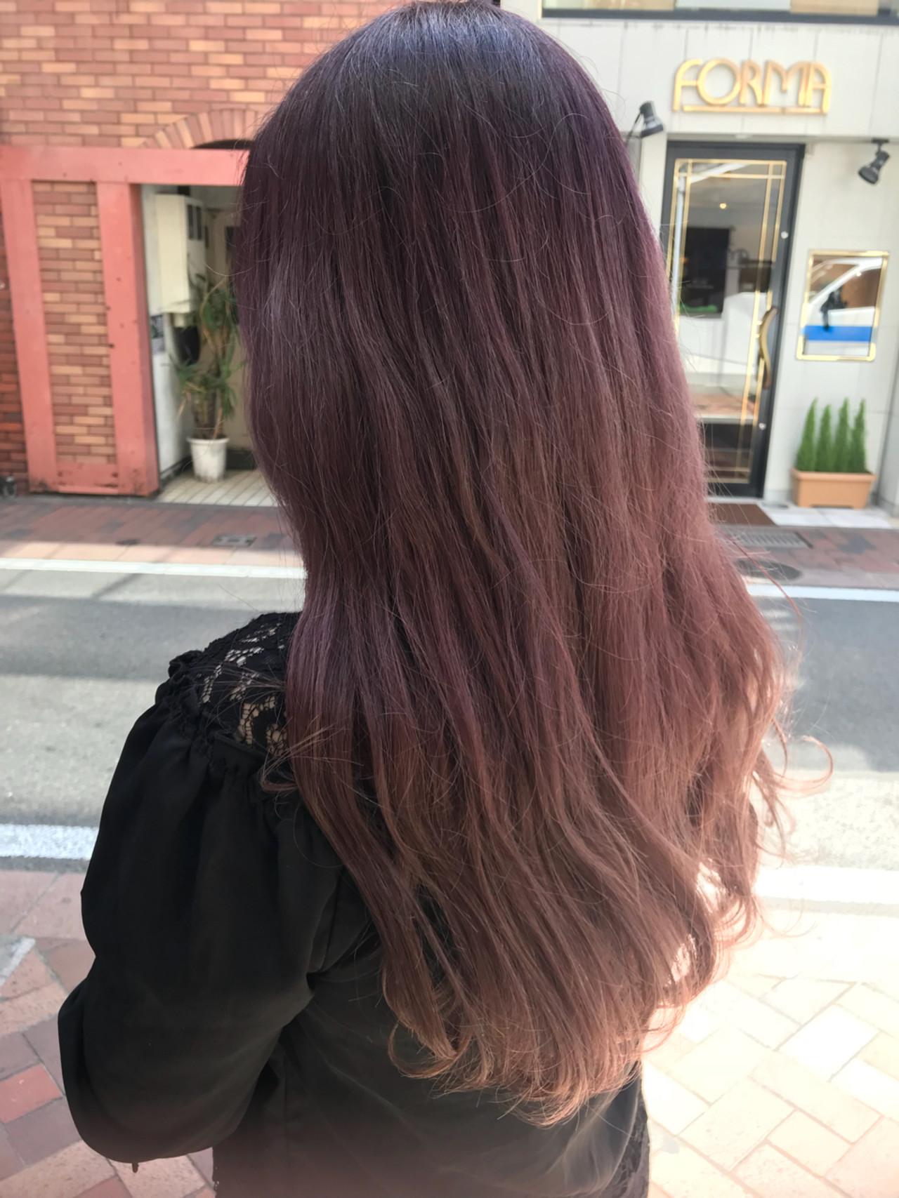 ピンクアッシュ ピンク グラデーションカラー ガーリー ヘアスタイルや髪型の写真・画像   桝田 由佳 / フリーランスでしてます!お電話のご予約不可です