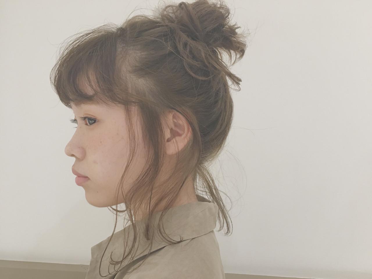 ニュアンス 簡単ヘアアレンジ 外国人風 ヘアアレンジ ヘアスタイルや髪型の写真・画像 | hashimoto/LOUIE / LOUIE