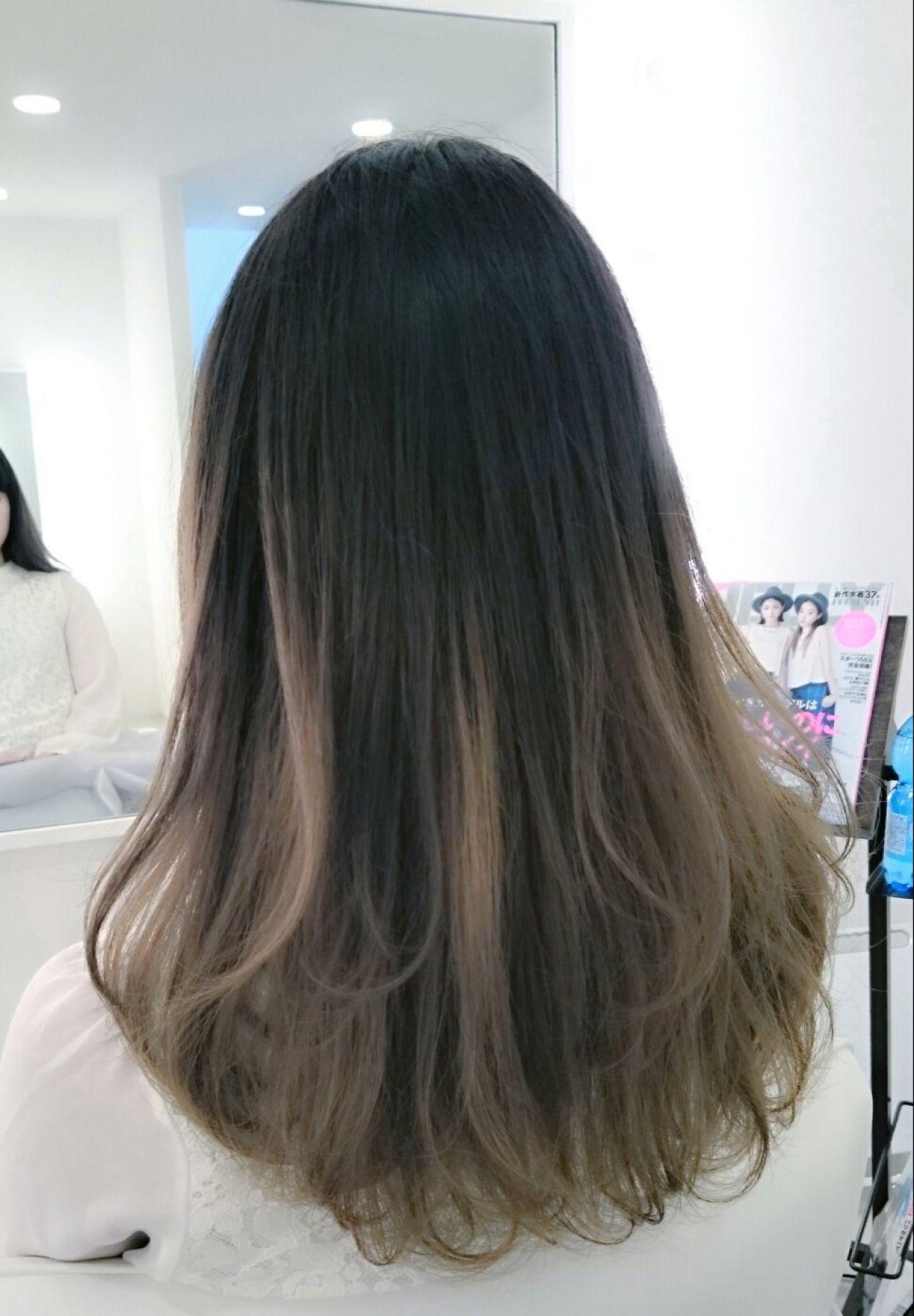 グラデーションカラー パンク ストリート 春ヘアスタイルや髪型の写真・画像