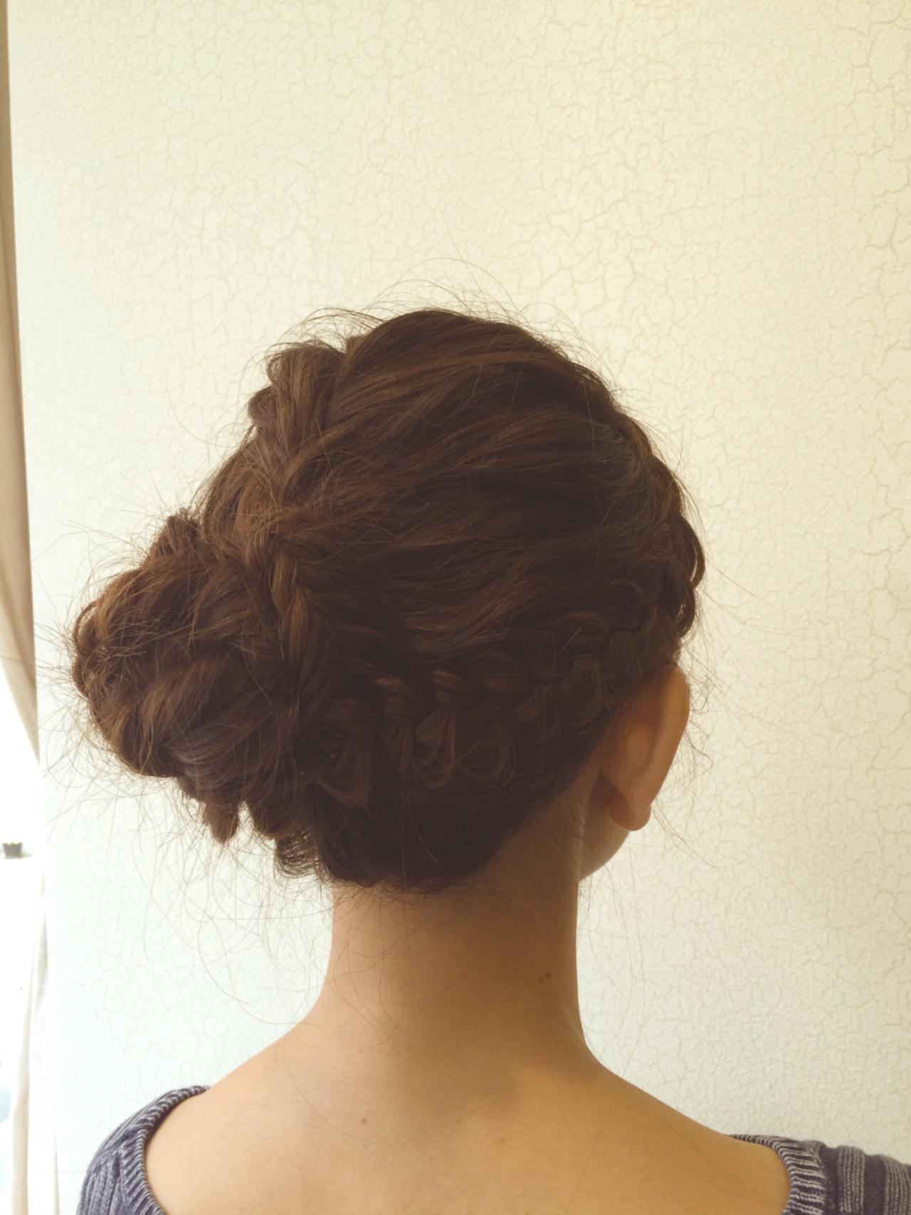 ミディアム フェミニン ガーリー ヘアアレンジ ヘアスタイルや髪型の写真・画像 | 松永拓巳 / Noz Harajuku