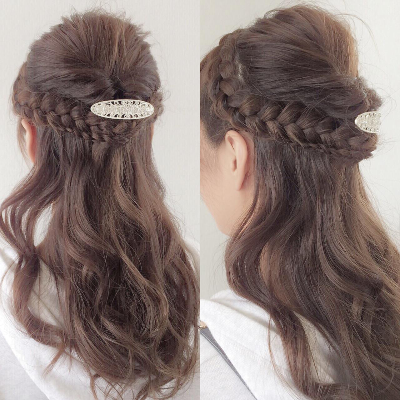 愛され 簡単ヘアアレンジ ロング くるりんぱヘアスタイルや髪型の写真・画像
