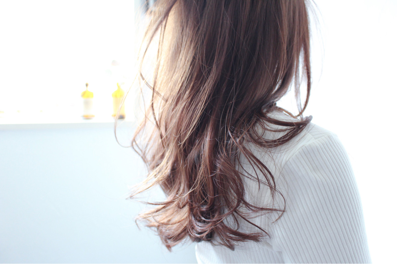 ボブ ラベンダー グレージュ ロング ヘアスタイルや髪型の写真・画像   creap / creap