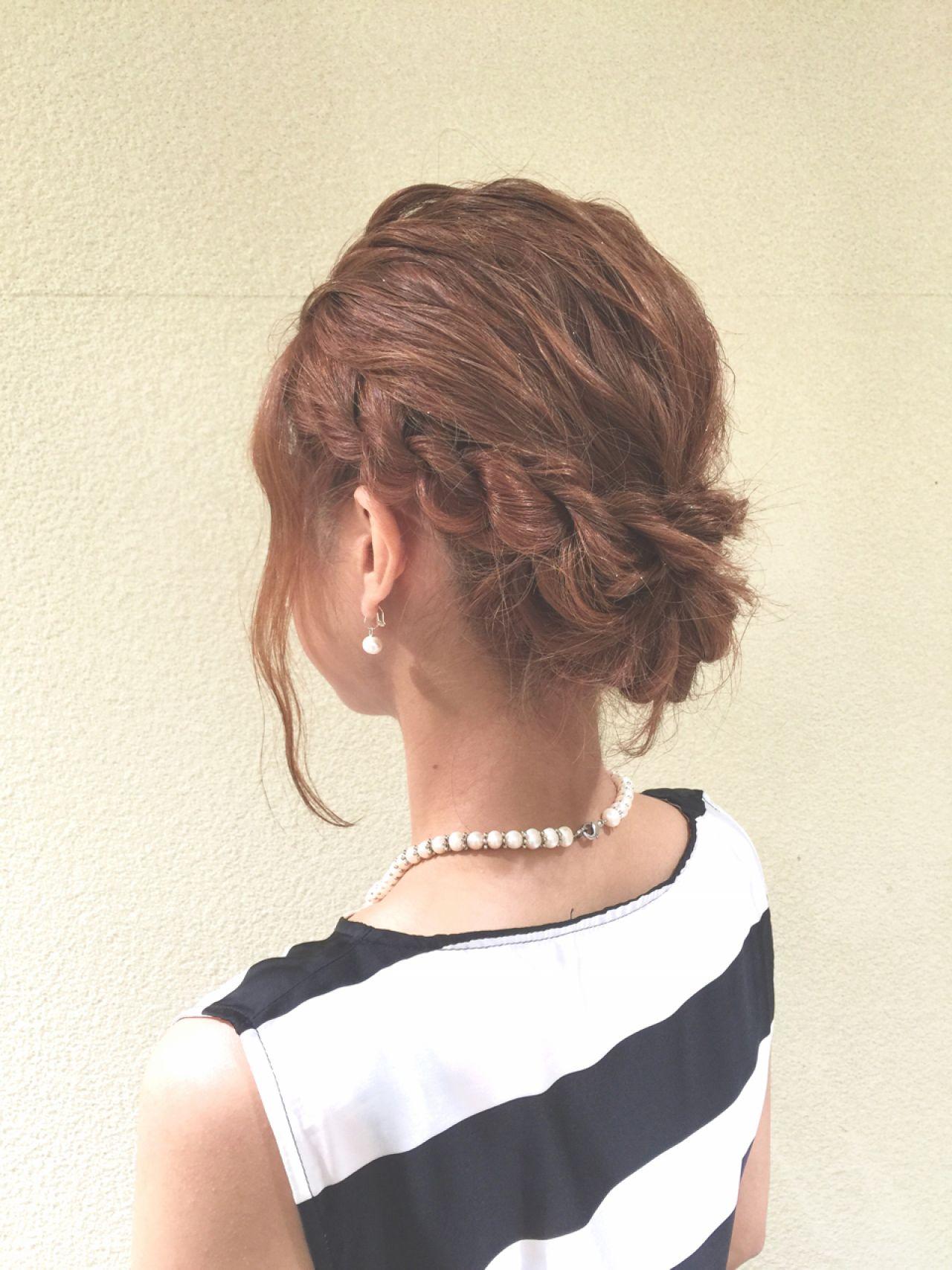 ヘアアレンジ ナチュラル ショート 結婚式ヘアスタイルや髪型の写真・画像