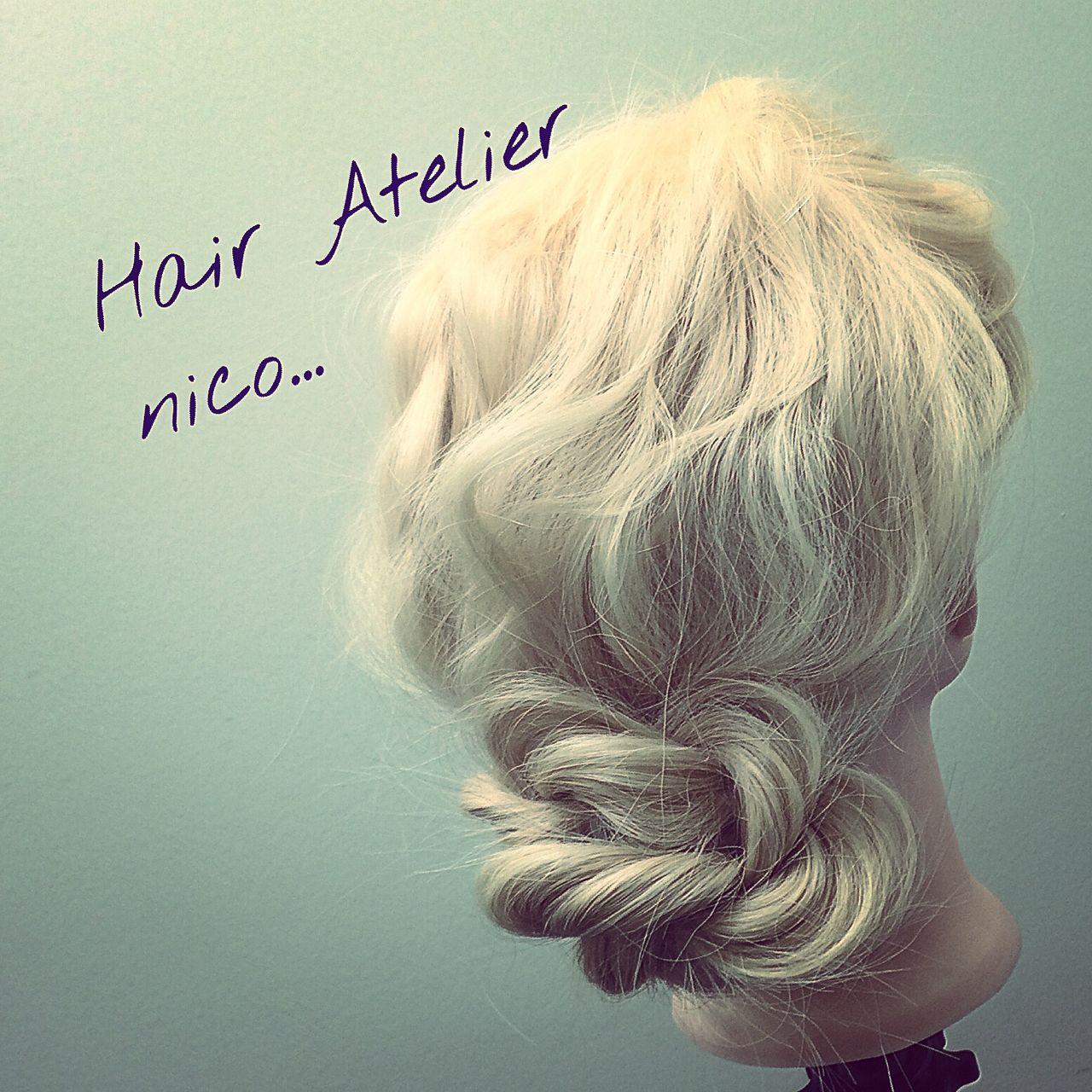 ロング 簡単ヘアアレンジ ナチュラル ヘアアレンジ ヘアスタイルや髪型の写真・画像 | 溝口和也 / Hair Atelier nico...