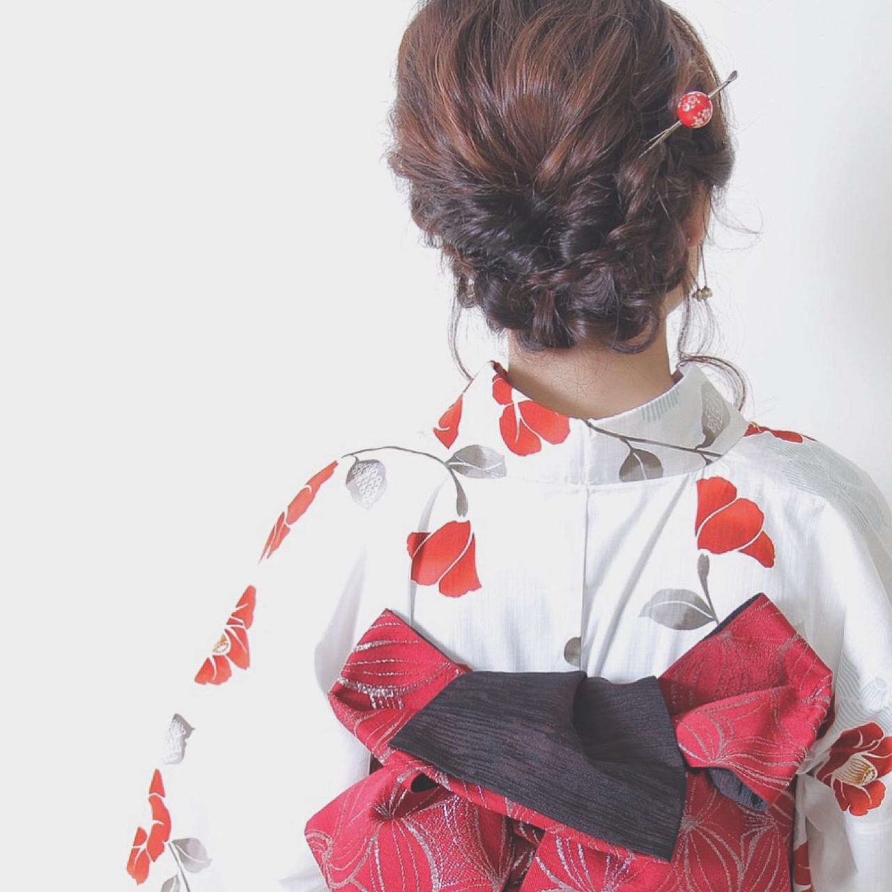 ヘアアレンジ 花火大会 夏 お祭りヘアスタイルや髪型の写真・画像