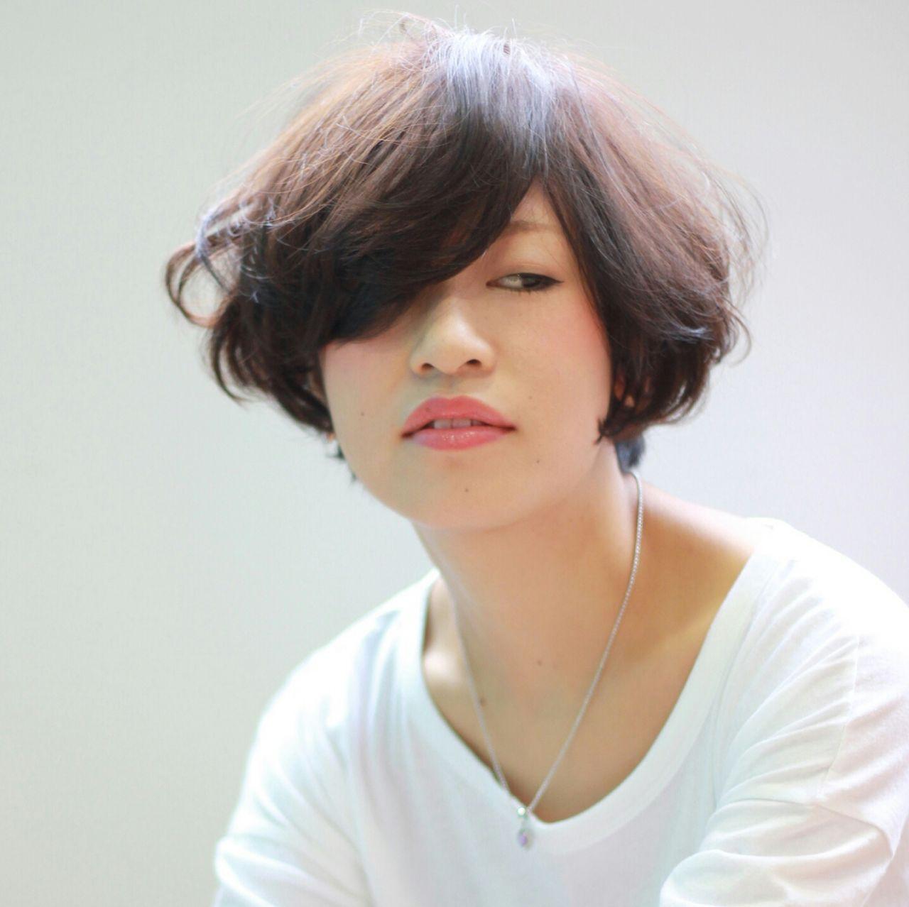 ゆるふわ 外国人風 フェミニン ボブヘアスタイルや髪型の写真・画像