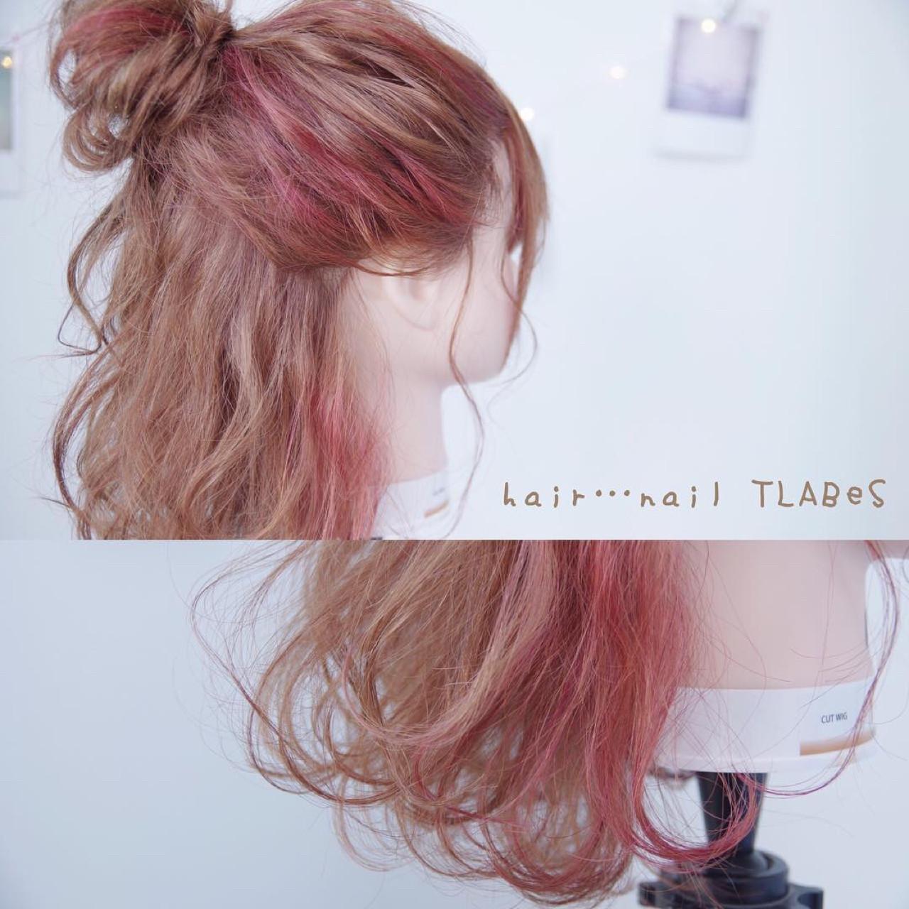 簡単ヘアアレンジ ショート ガーリー ボブヘアスタイルや髪型の写真・画像