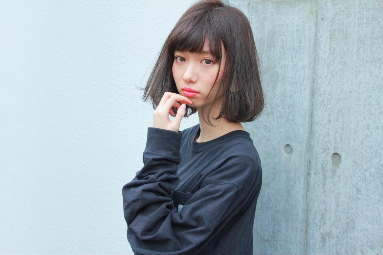 透明感 色気 ナチュラル 前髪ありヘアスタイルや髪型の写真・画像