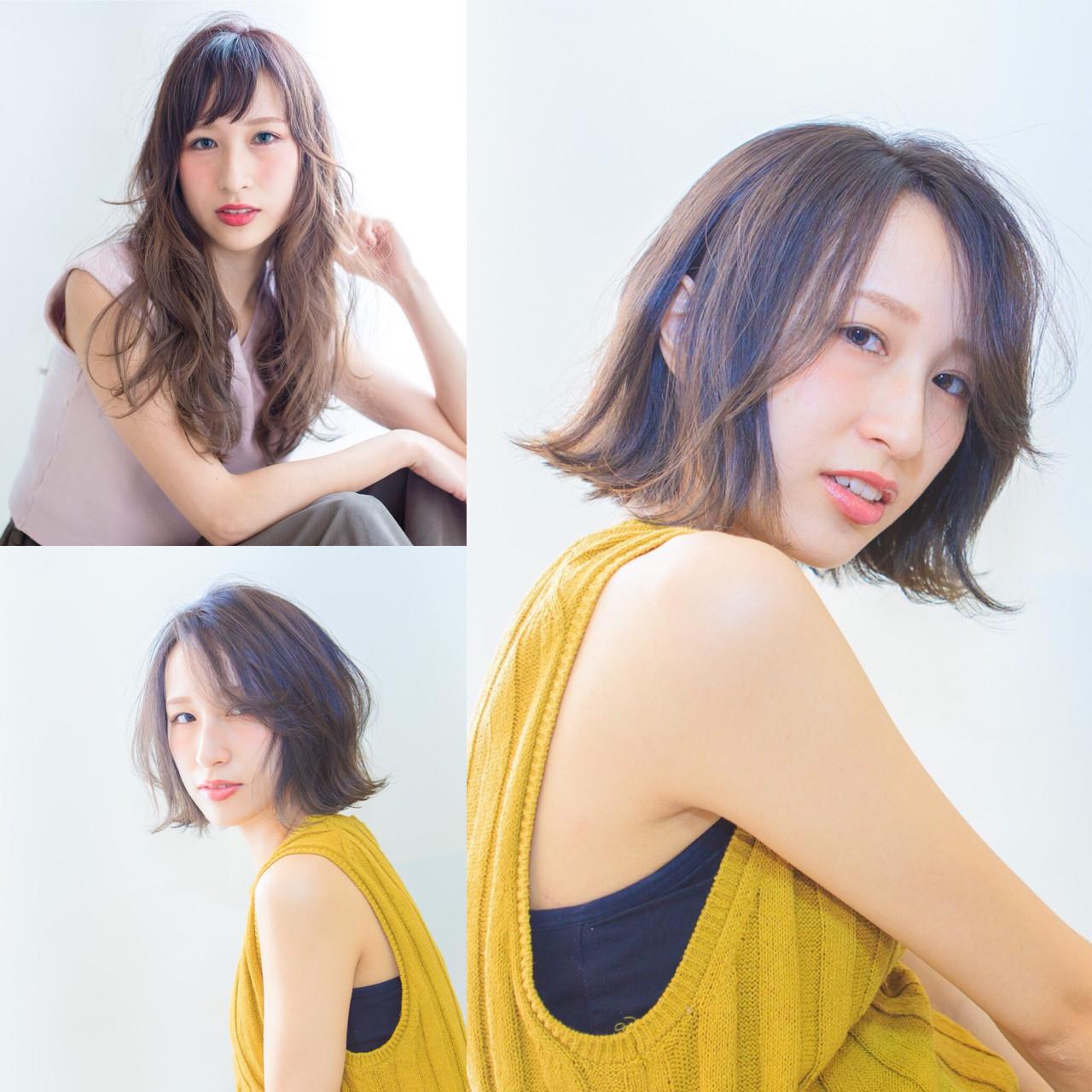 ブルーアッシュ ボブ 切りっぱなし ブルー ヘアスタイルや髪型の写真・画像 | 内田 一也 / hair/nail space a:le
